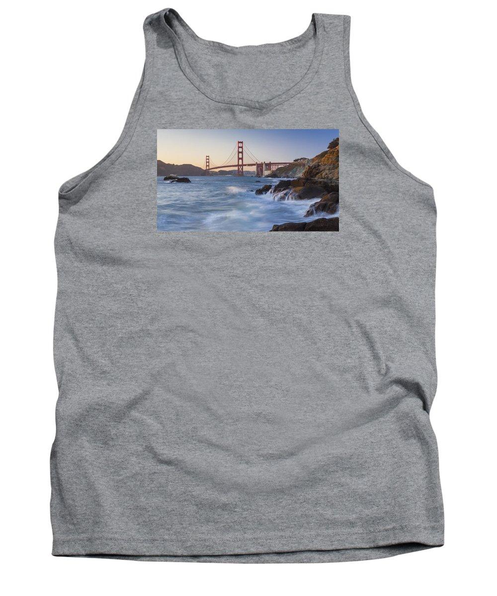 Golden Gate Bridge Tank Top featuring the photograph Golden Gate Bridge Sunset Study 5 by Scott Campbell