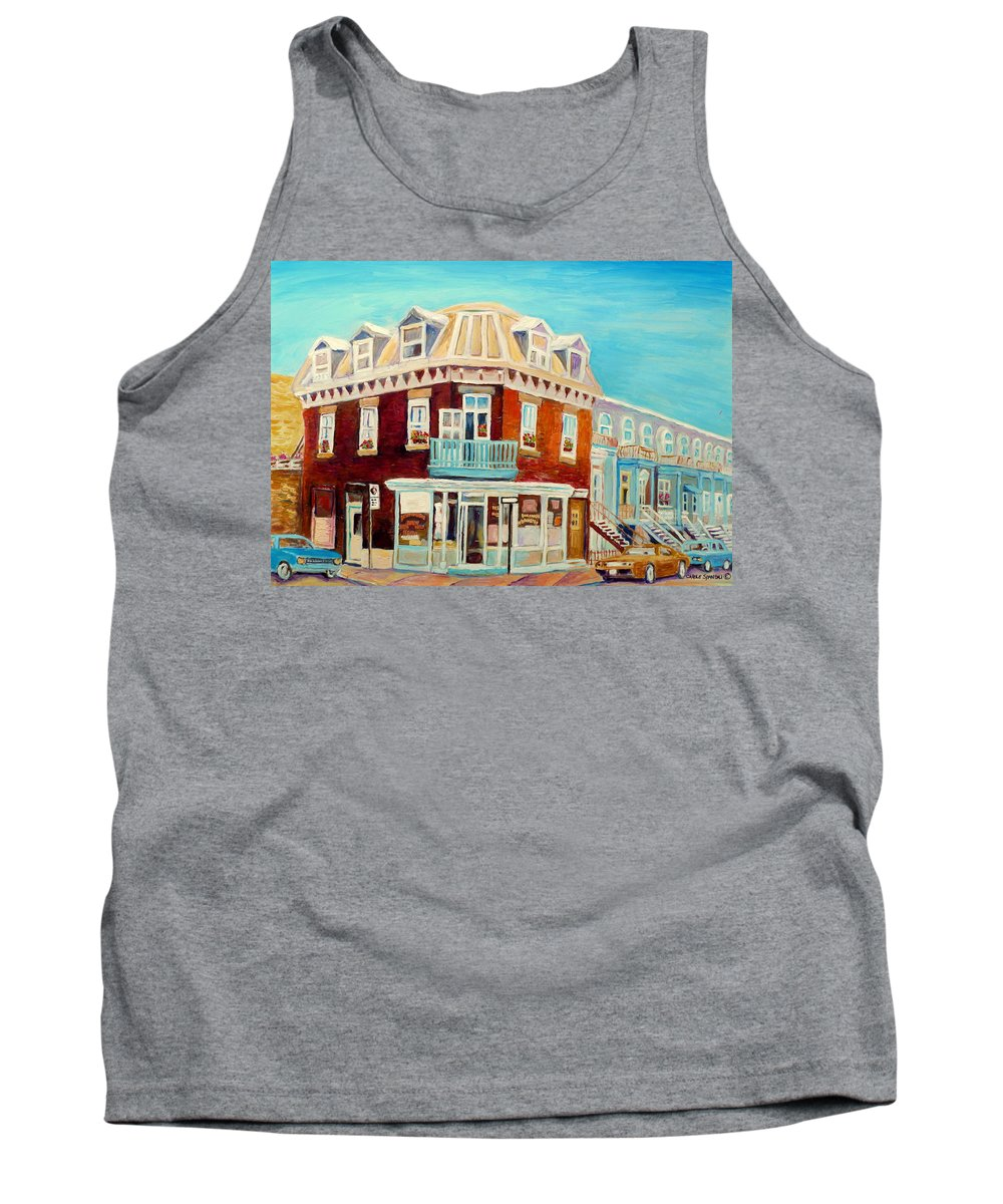 Bakeries Tank Top featuring the painting Golden Homemade Baked Goods by Carole Spandau