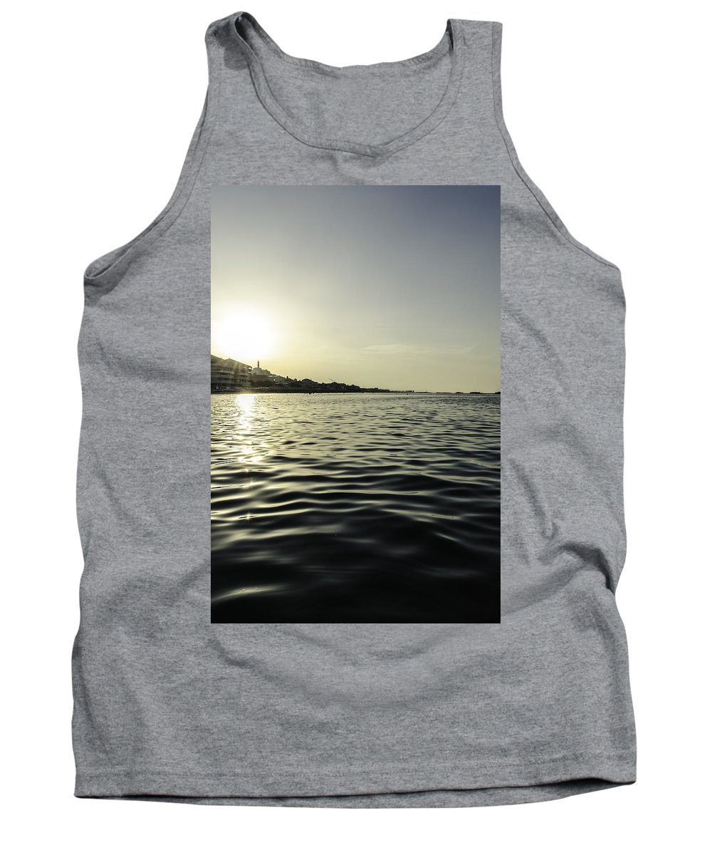 Sunset Tank Top featuring the photograph Golden Sunset In Italy by Andrea Mazzocchetti