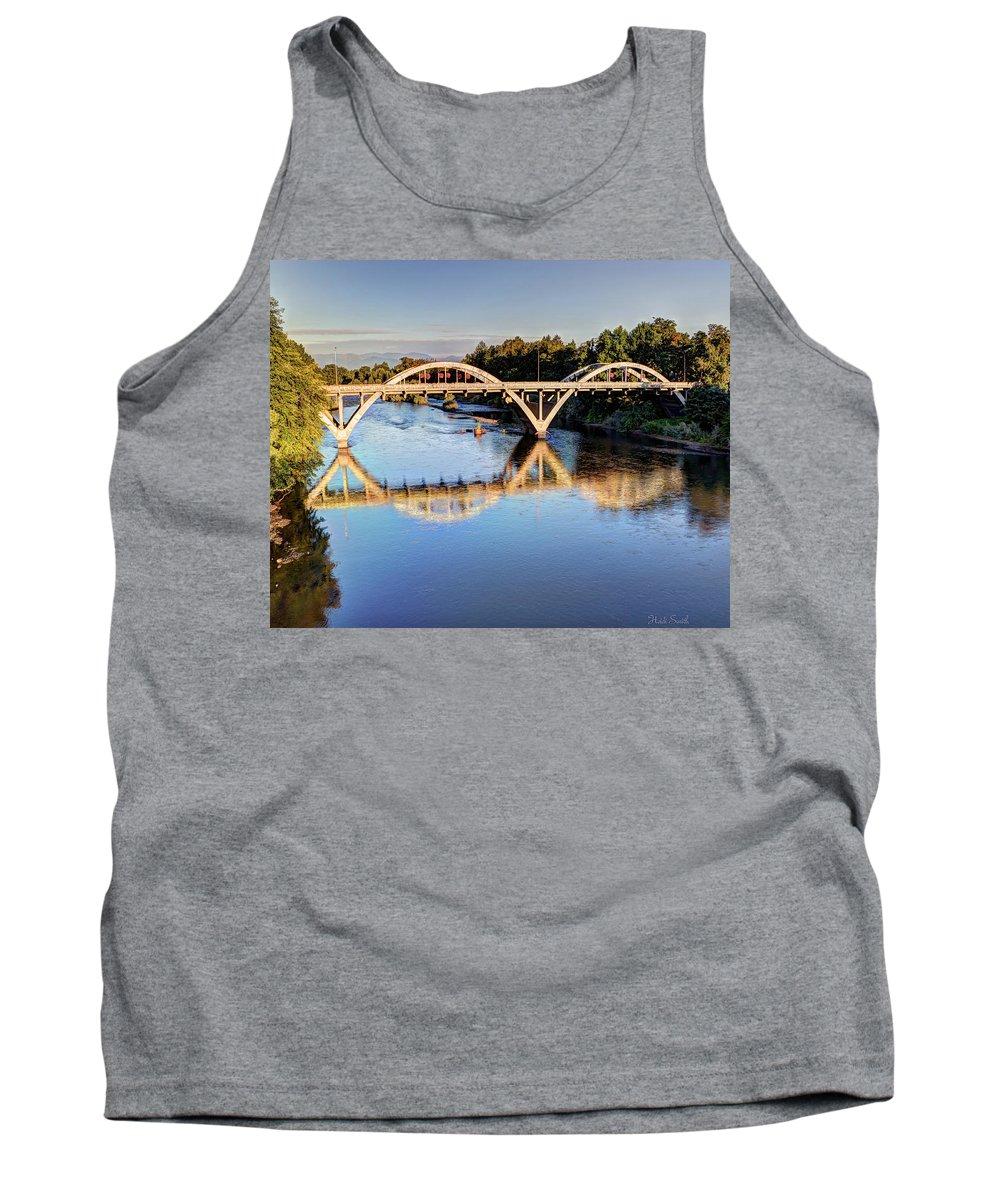 Bridge Tank Top featuring the photograph Good Morning Grants Pass II by Heidi Smith