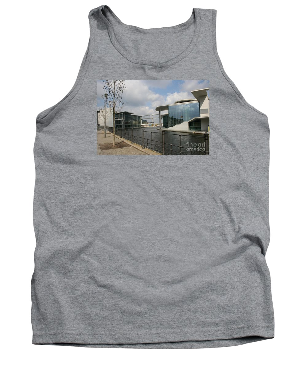 Goverment Building Tank Top featuring the photograph Government Building And Spree by Christiane Schulze Art And Photography