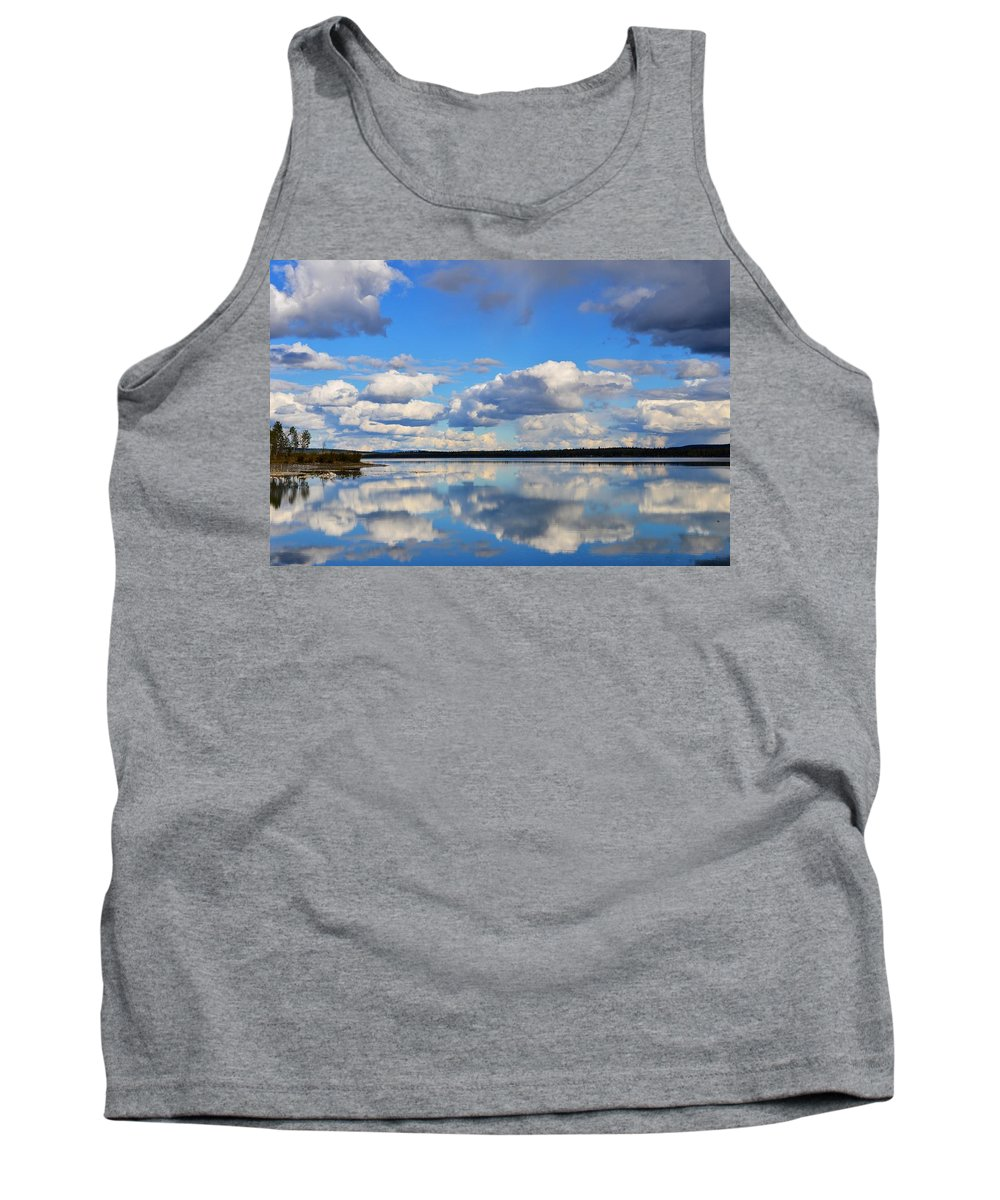 Reflection Tank Top featuring the photograph Gr Lake Reflection by Randy Giesbrecht
