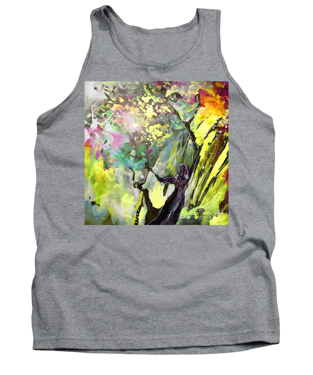 Fantasy Tank Top featuring the painting Grace Under Pressure by Miki De Goodaboom