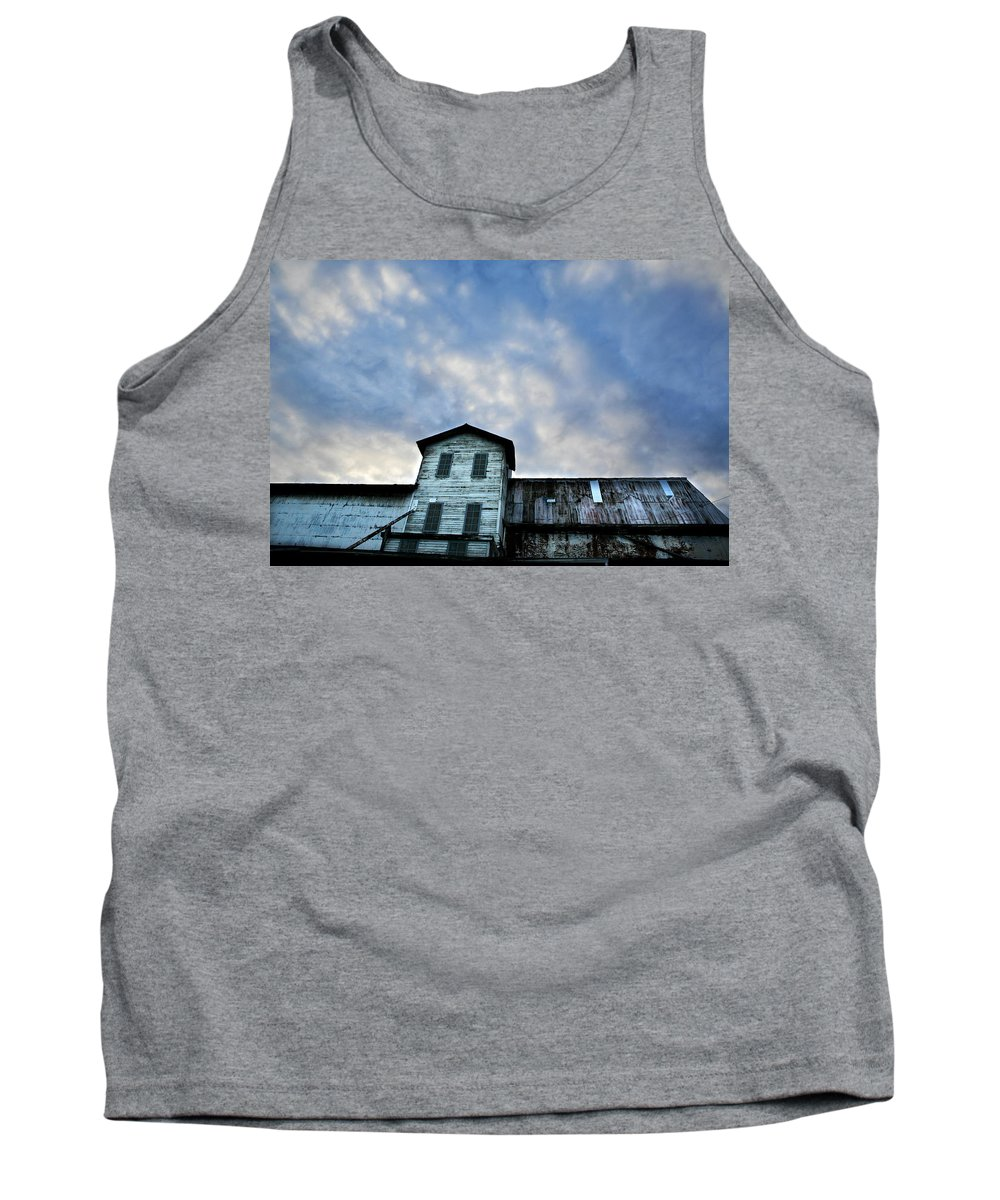 Grain Tank Top featuring the photograph Grain Elevator by Marilyn Hunt