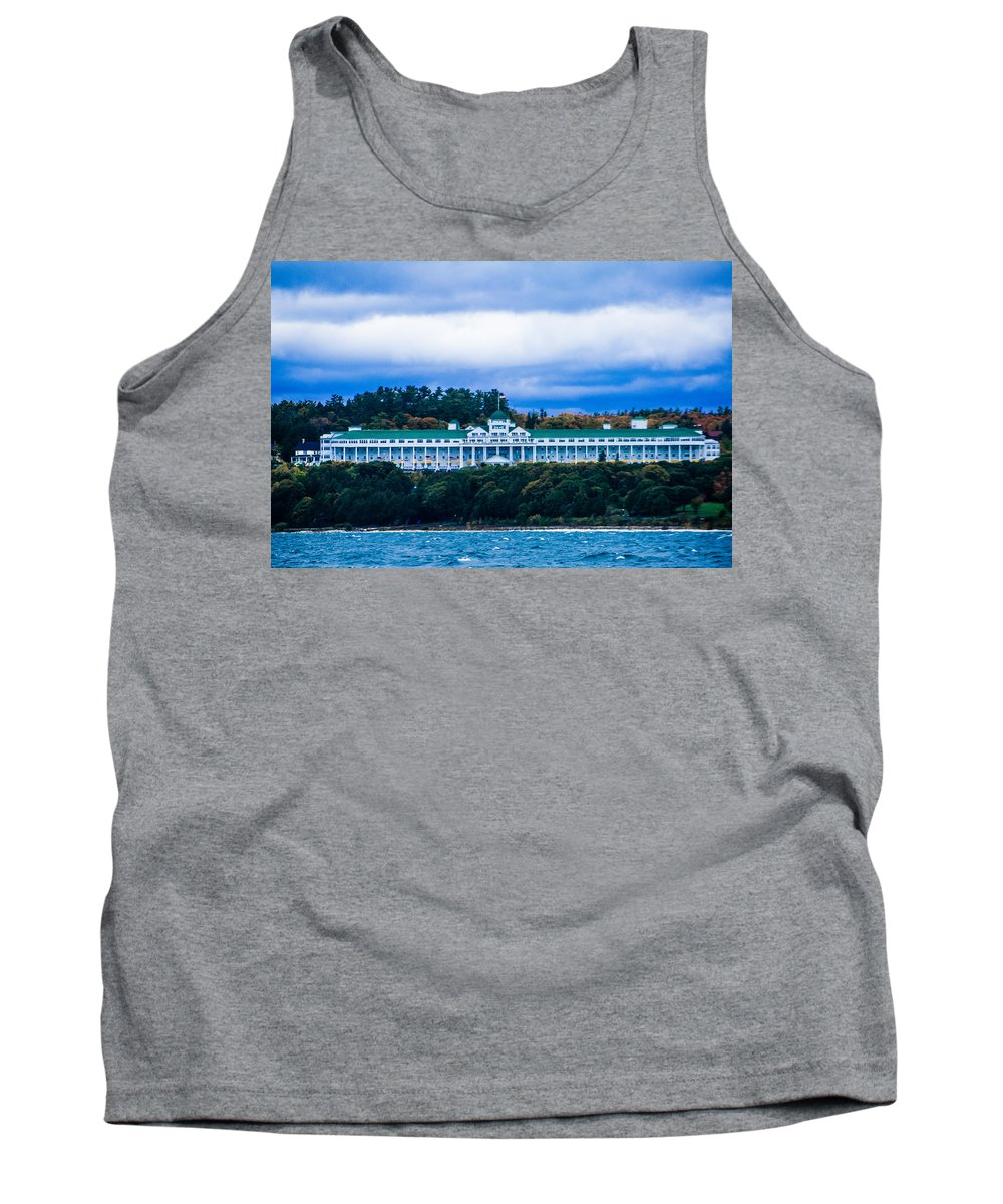 Island Tank Top featuring the photograph Grand Hotel Mackinac Island by Sheri Bartoszek