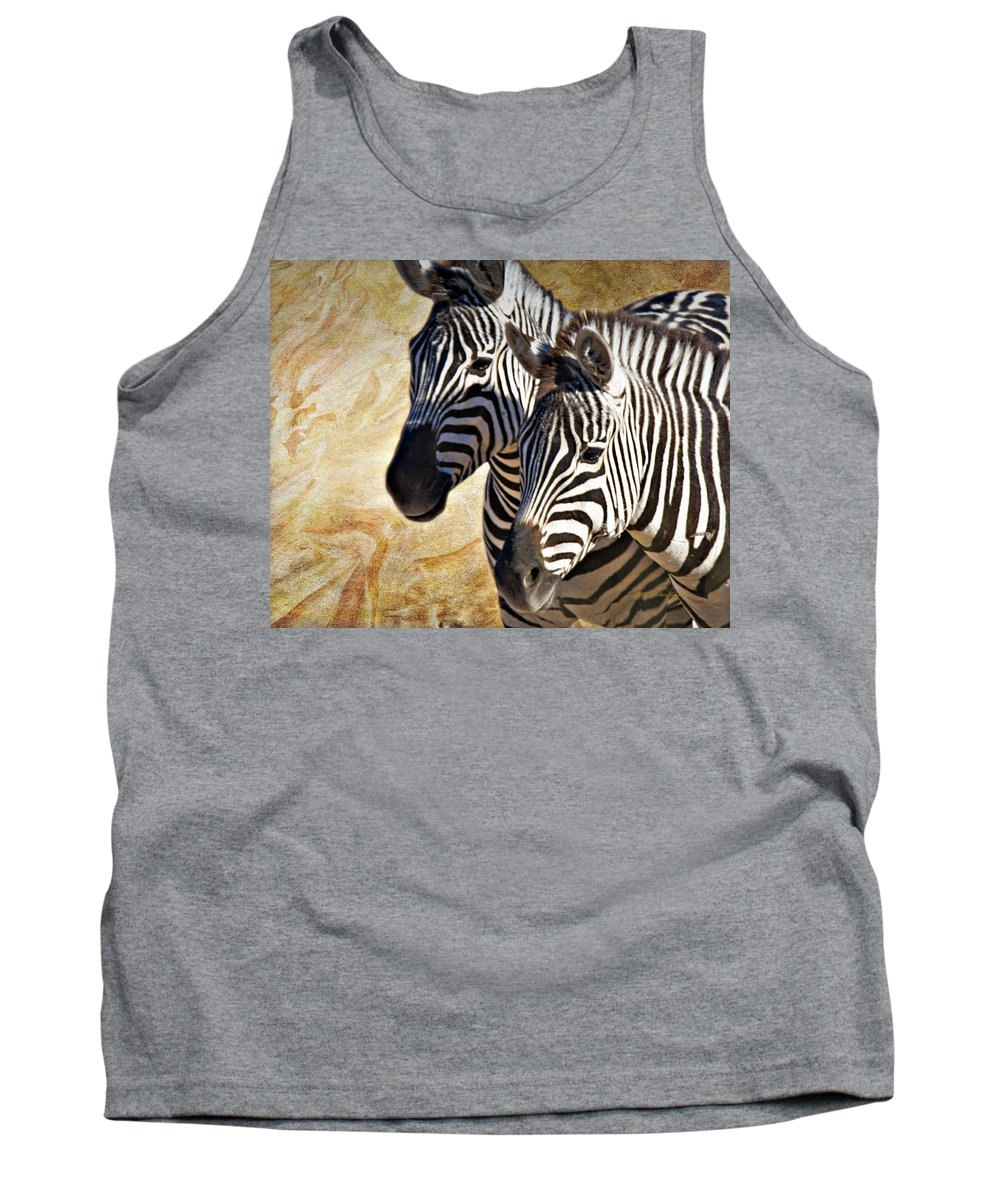 Grant's Zebra Tank Top featuring the photograph Grant's Zebras_b1 by Walter Herrit