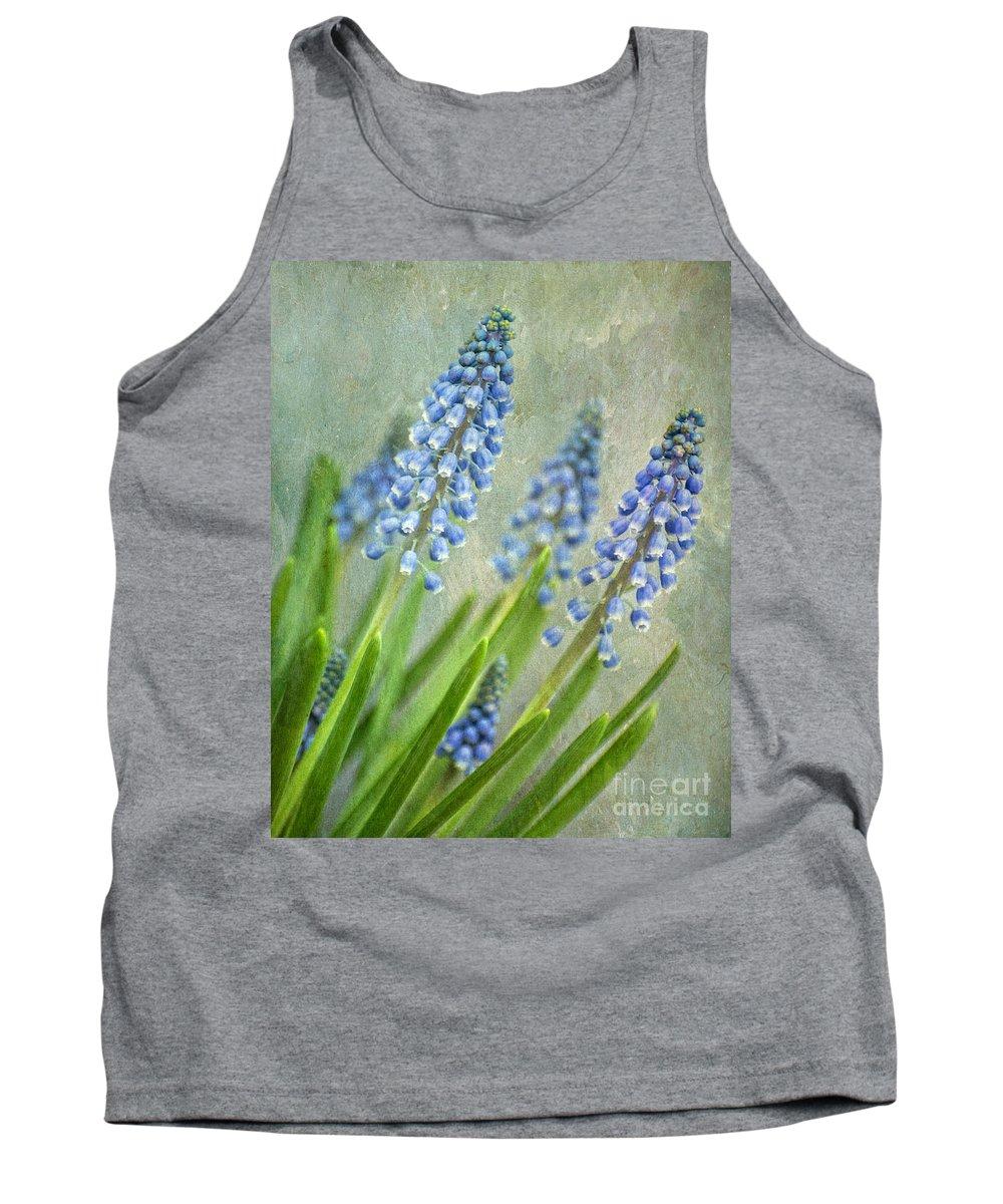 Hyacinths Tank Top featuring the digital art Grape Hyacinths by Claudia Kuhn