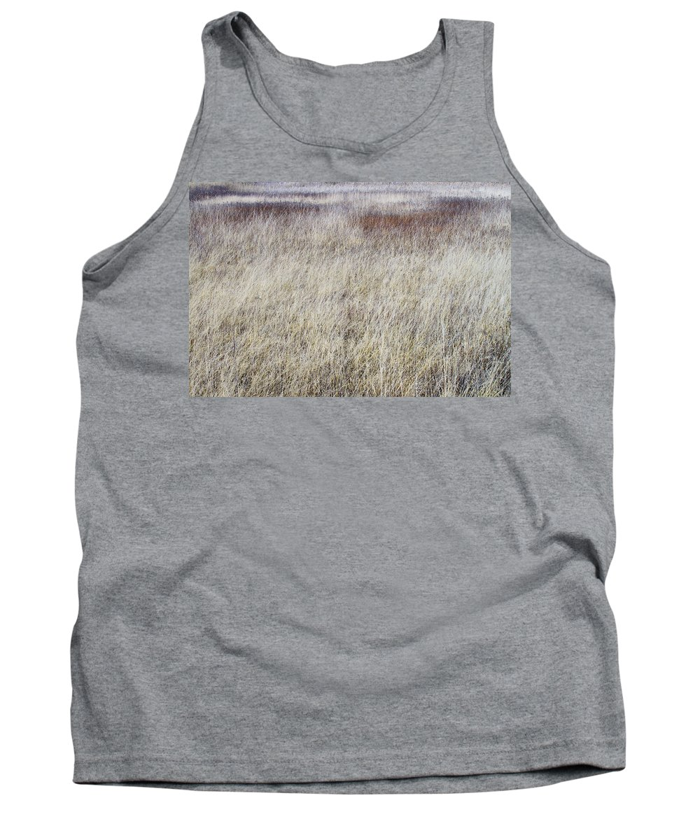 Texture Tank Top featuring the photograph Grass Abstract by Ivan Slosar