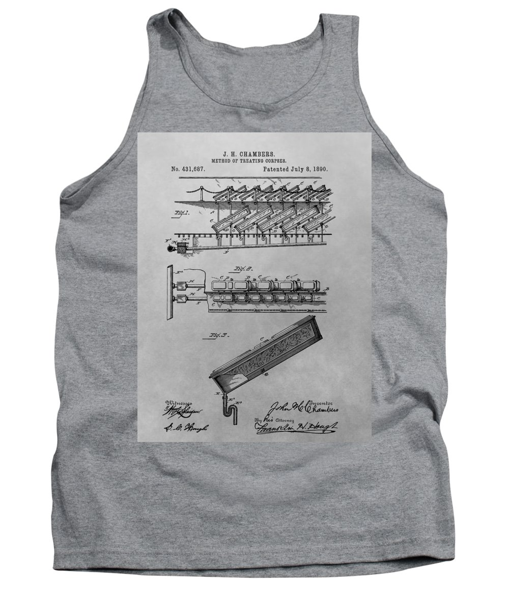 Method Of Treating Corpses Tank Top featuring the drawing Graveyard Patent by Dan Sproul