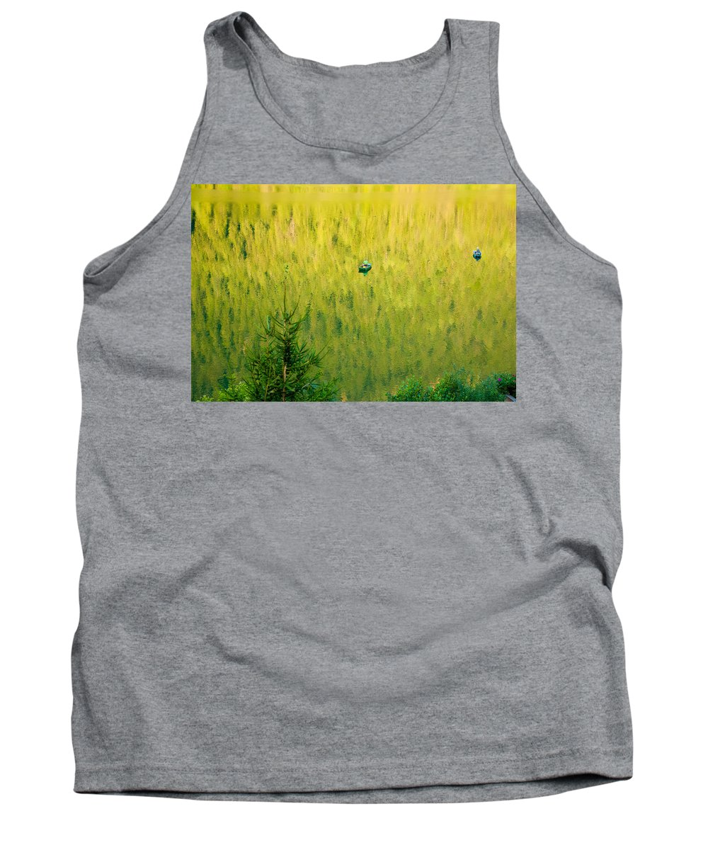 Green Tank Top featuring the photograph Green Vertigo by Marco Busoni