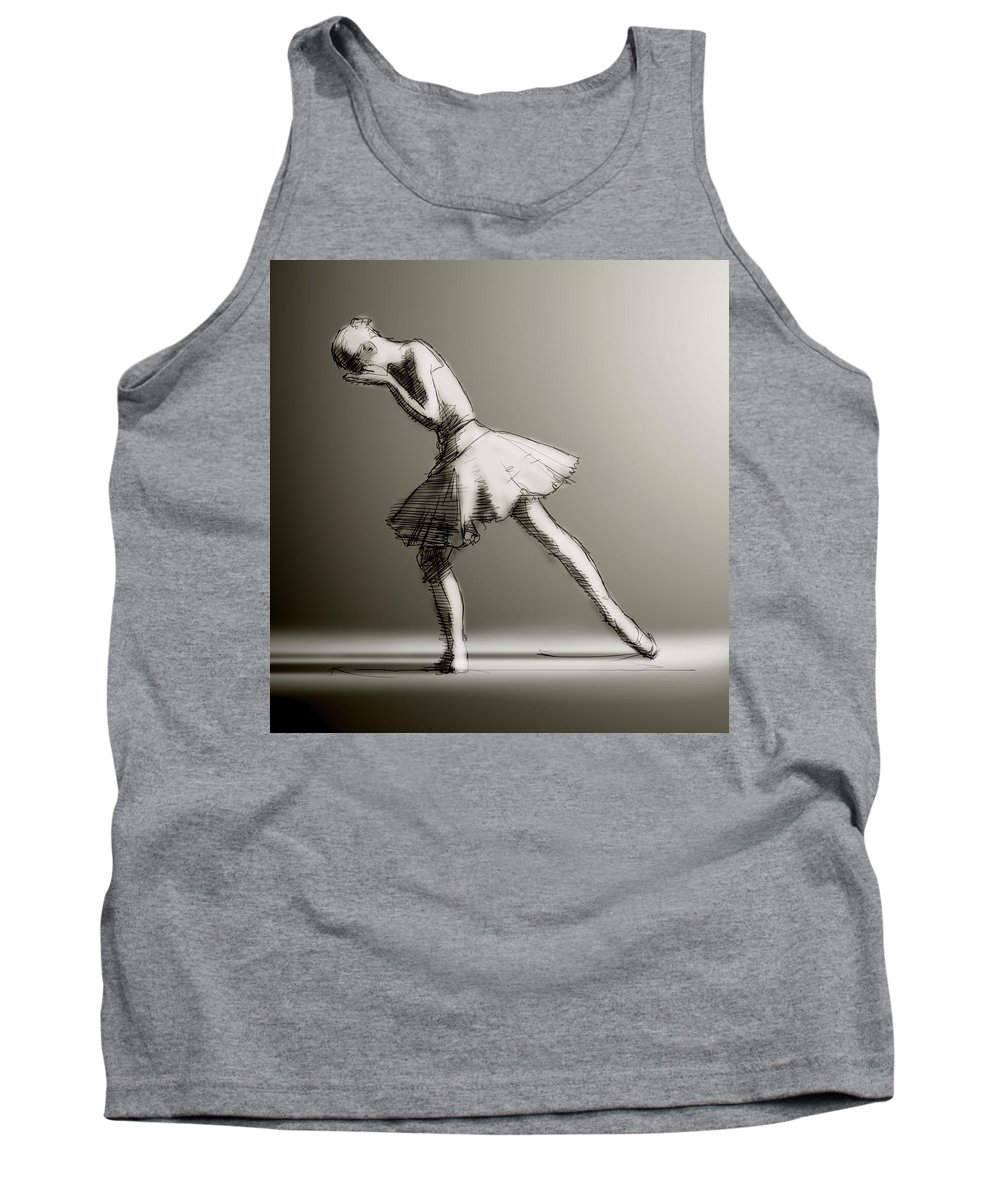 Ballet Tank Top featuring the digital art Grief by H James Hoff