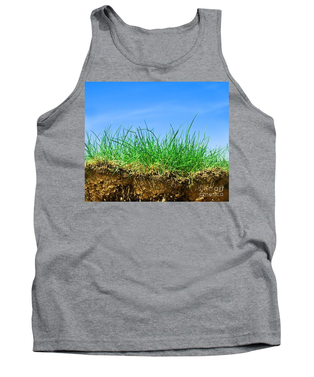 Agriculture Tank Top featuring the photograph Ground And Grass by Michal Bednarek