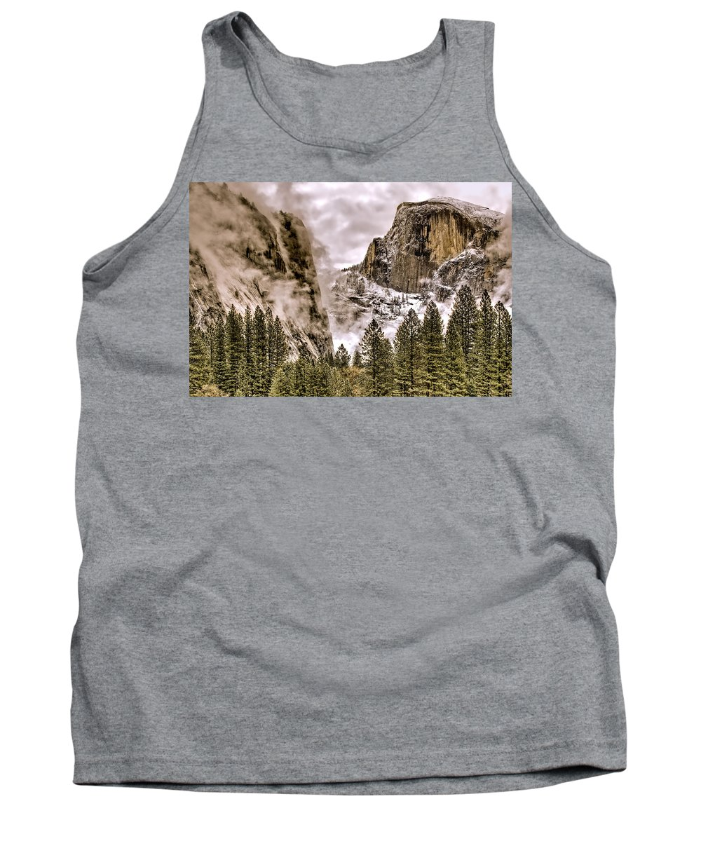 Landscape Tank Top featuring the photograph Menacing Rocks by Maria Coulson