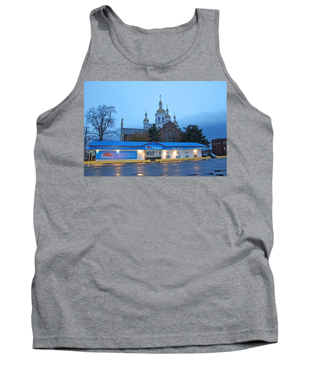 Hamilton Tank Top featuring the photograph Hamilton Orthodox Church by Munir Alawi