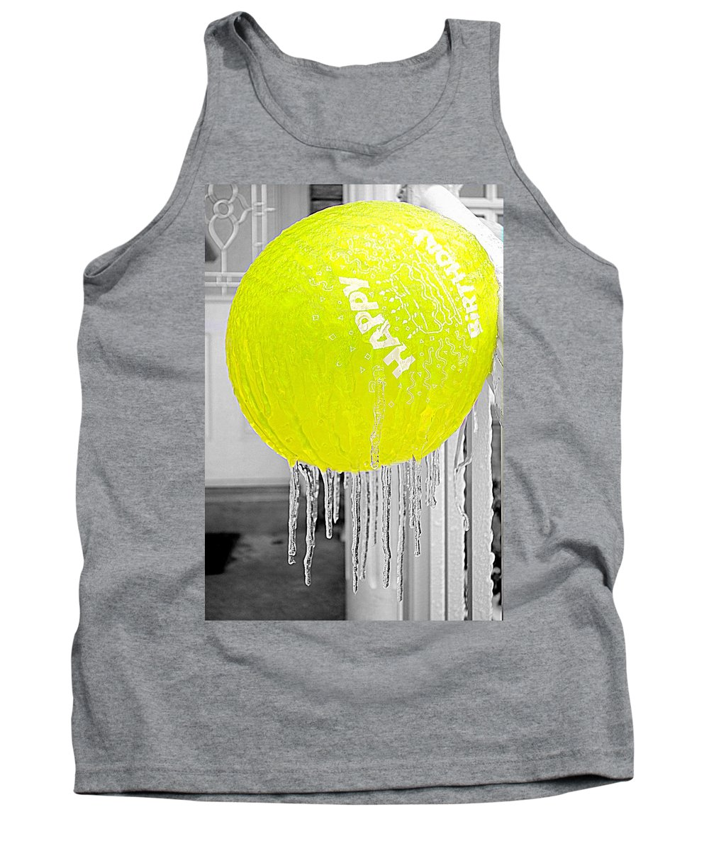 Ice Tank Top featuring the photograph Happy Freezing Birthday by Valentino Visentini