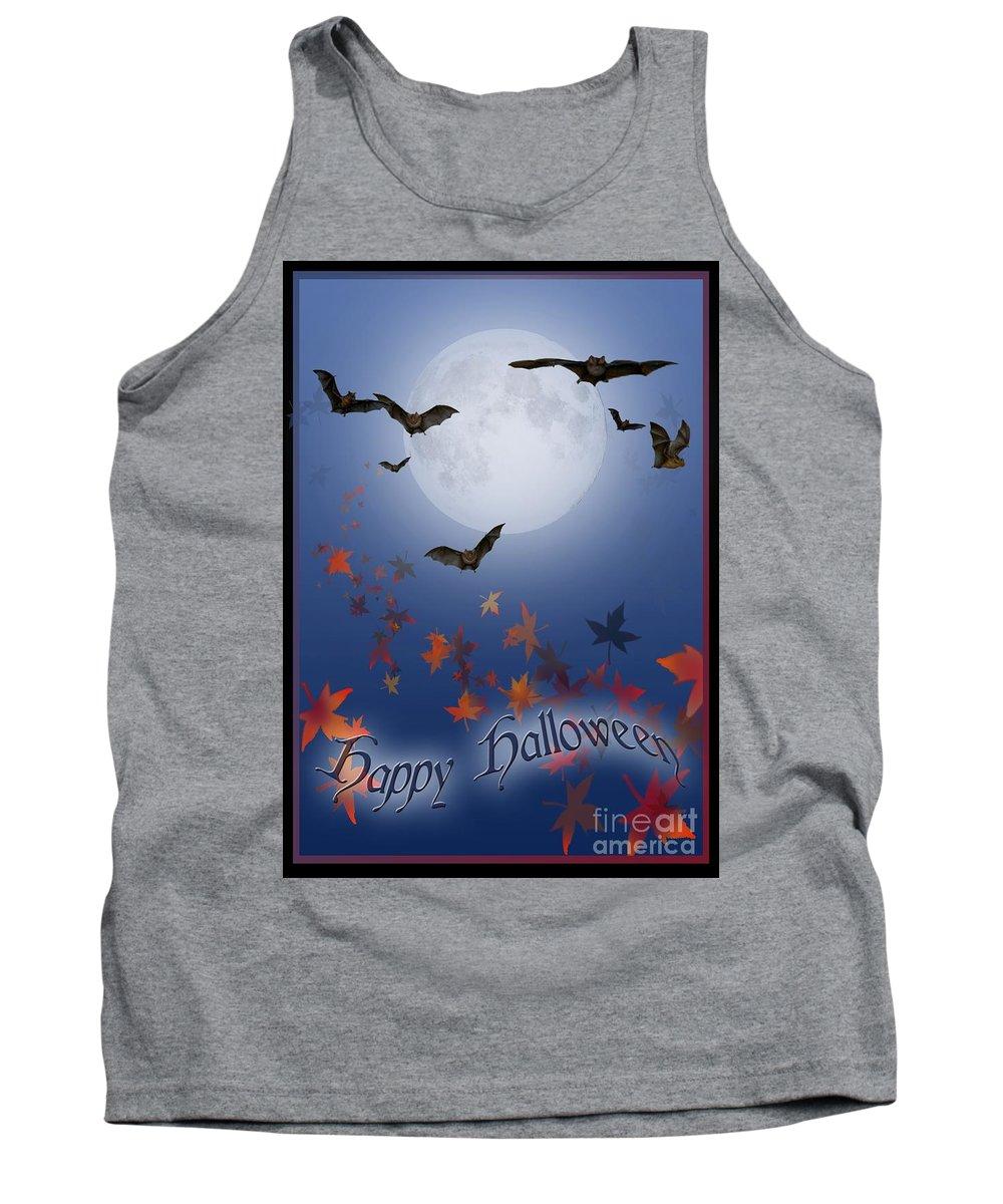 Halloween Tank Top featuring the digital art Happy Halloween by Melissa A Benson
