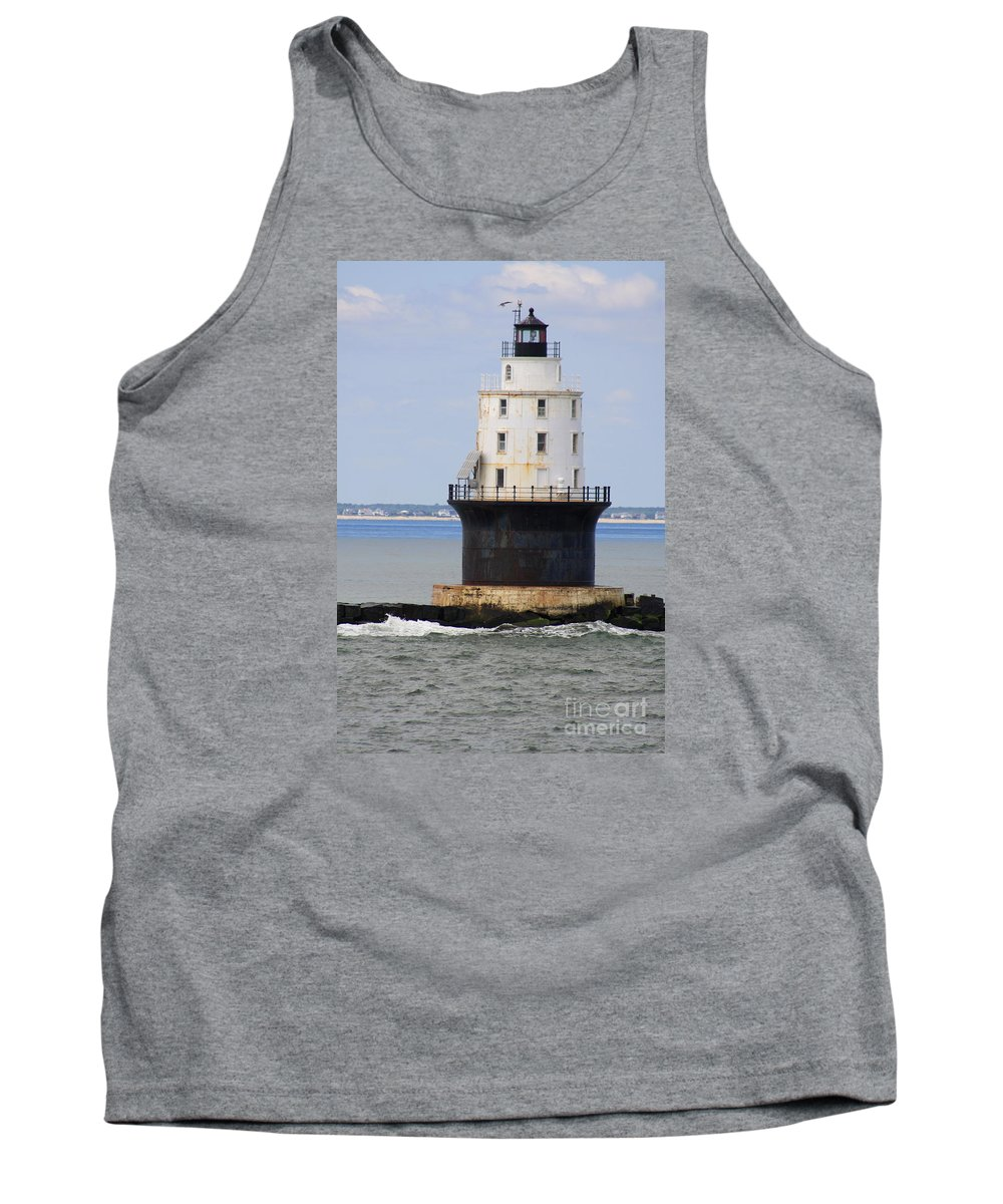Harbor Of Refuge Light Tank Top featuring the photograph Harbor Of Refuge Light by Christiane Schulze Art And Photography