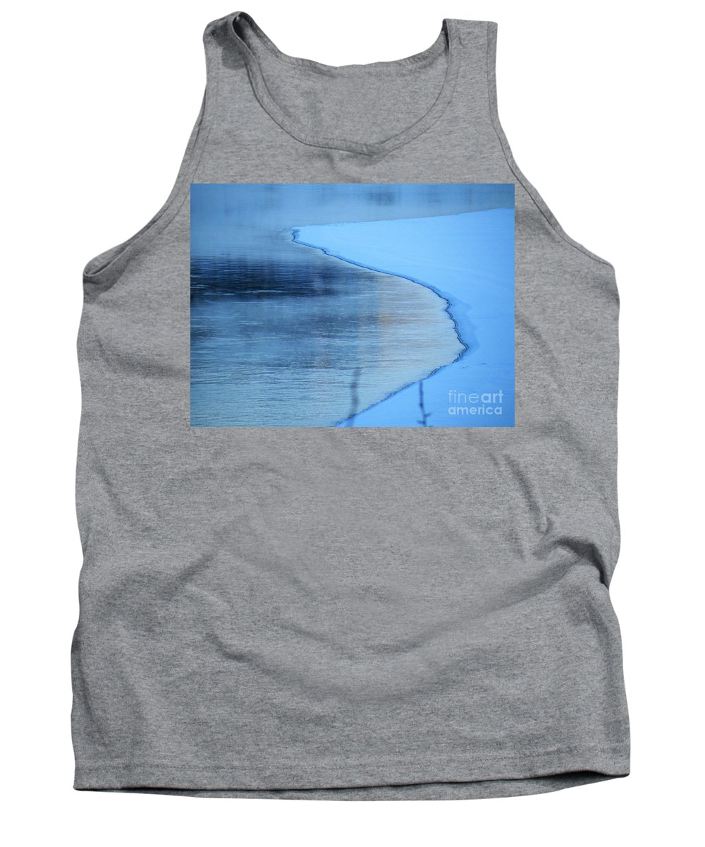 Hard Tank Top featuring the photograph Hard Demarcation by Brian Boyle