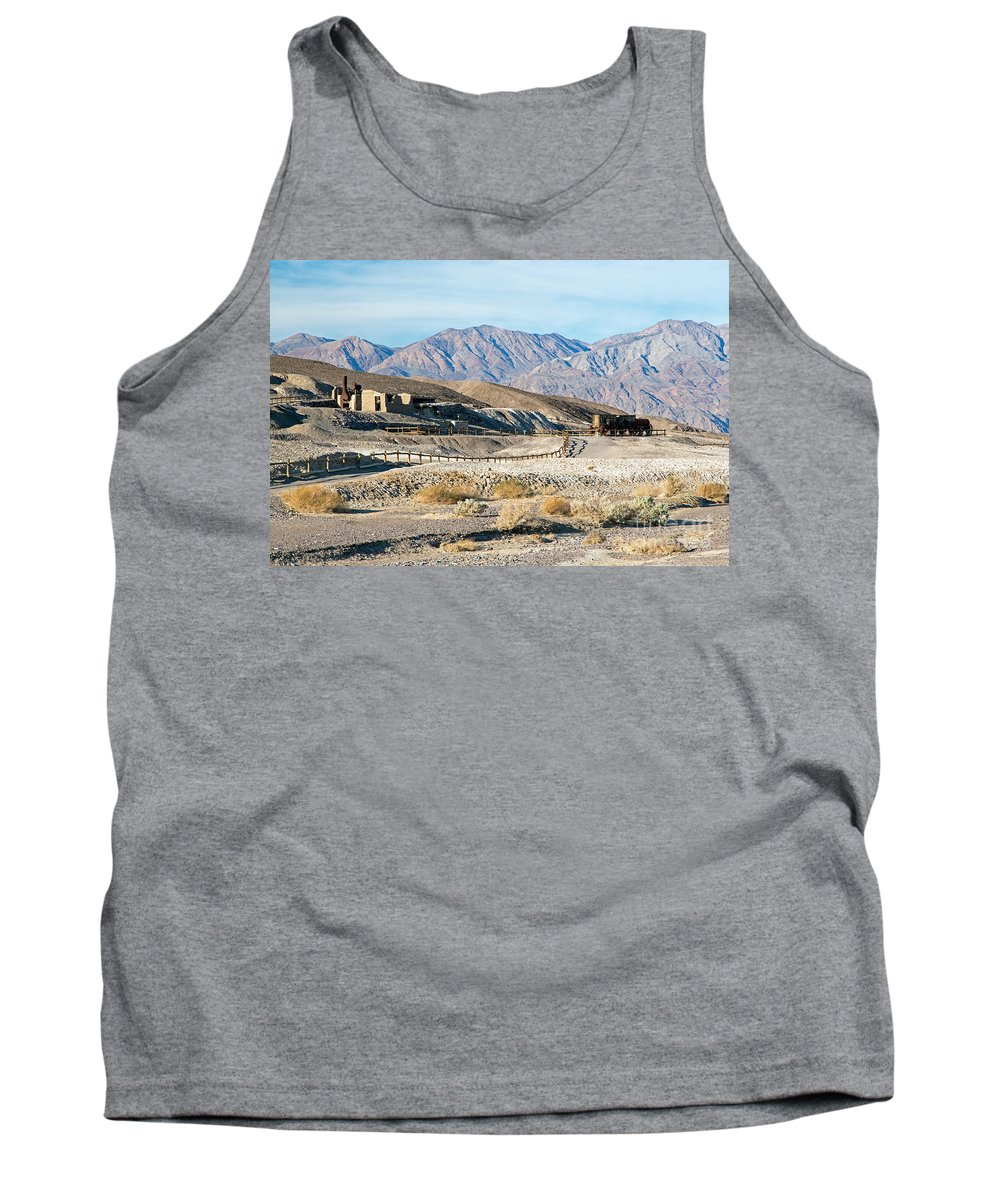 California Tank Top featuring the photograph Harmony Borax Works Death Valley National Park by Fred Stearns