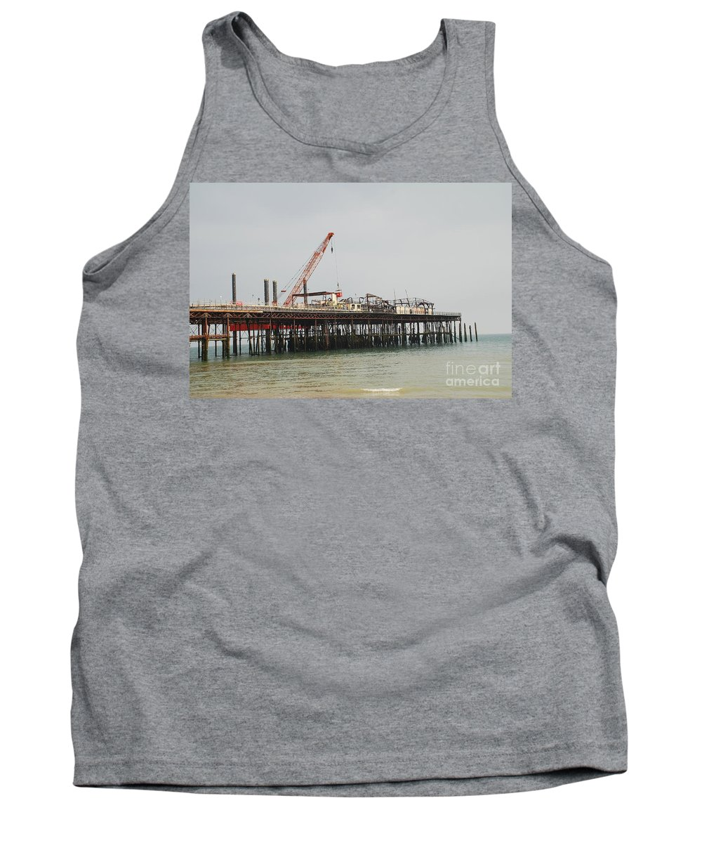 Hastings Tank Top featuring the photograph Hastings Pier Reconstruction by David Fowler