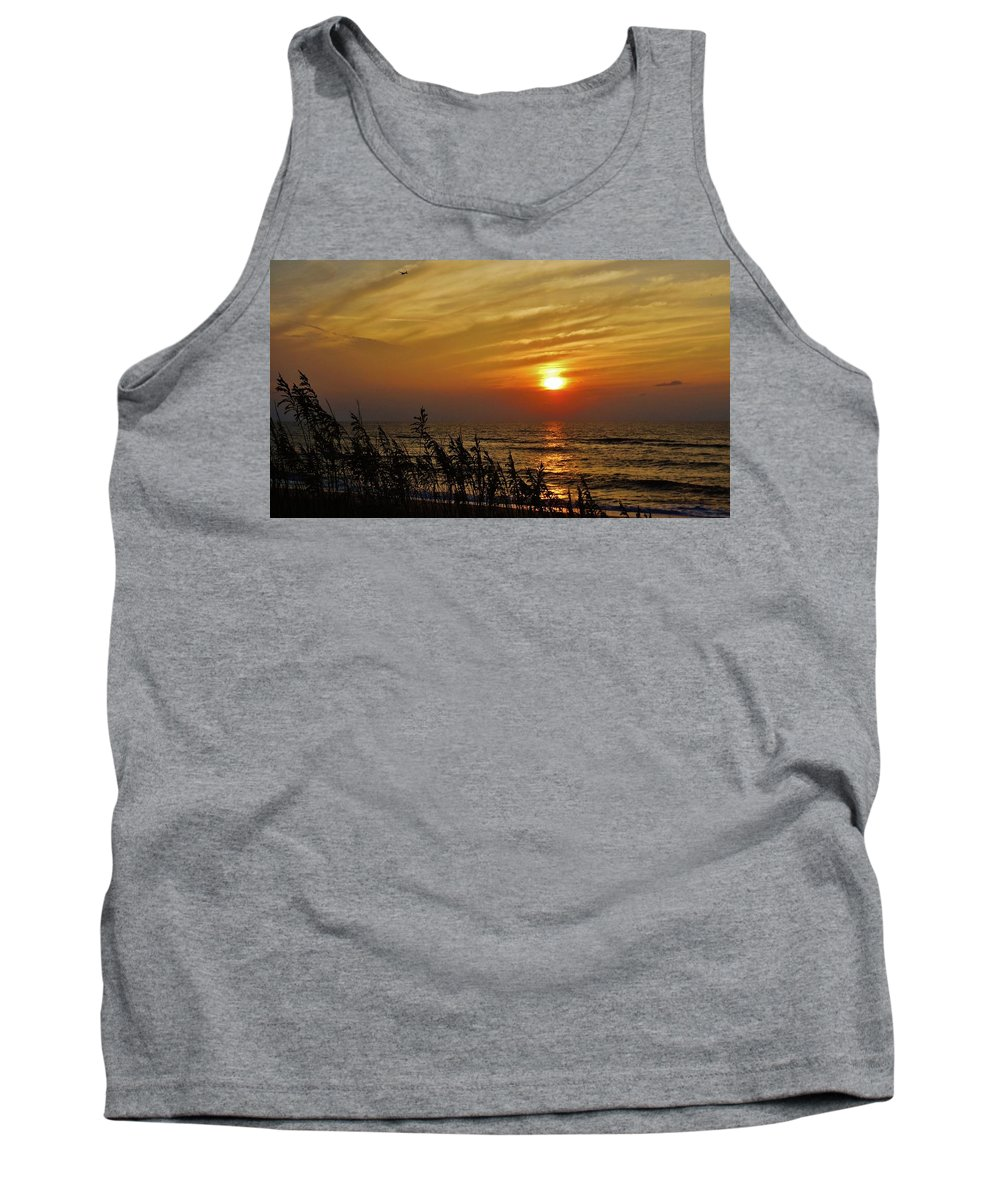 Mark Lemmon Cape Hatteras Nc The Outer Banks Photographer Subjects From Sunrise Tank Top featuring the photograph Hatteras Island Sunrise 1 7/31 by Mark Lemmon