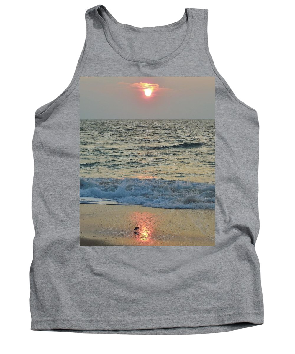 Mark Lemmon Cape Hatteras Nc The Outer Banks Photographer Subjects From Sunrise Tank Top featuring the photograph Hatteras Sunrise 5 8/8 by Mark Lemmon