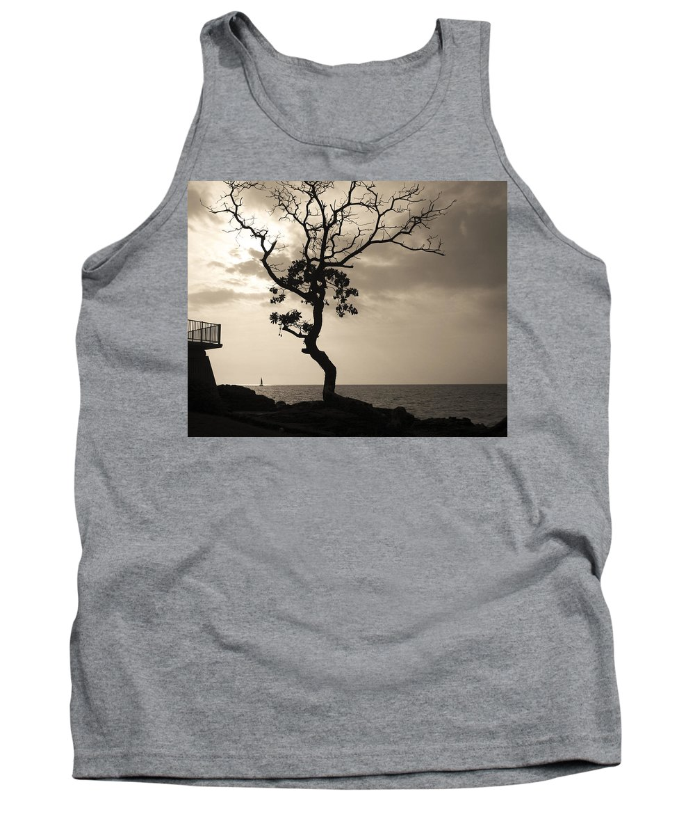 Beach House Tank Top featuring the photograph Hawaii Sail Boat by Guy Shultz