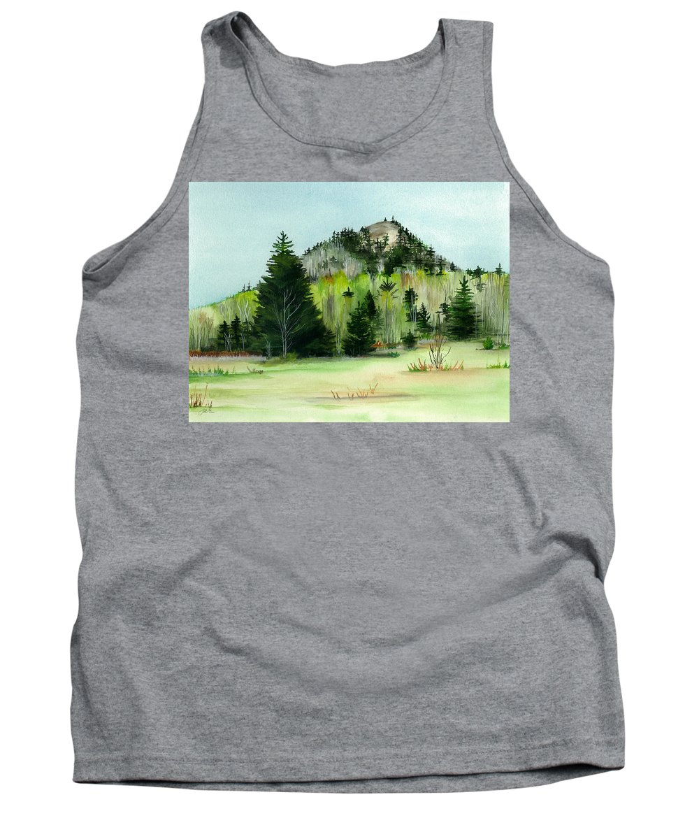 Landscape Tank Top featuring the painting Haystack Mountain Castle Hill Me by Judith Rice