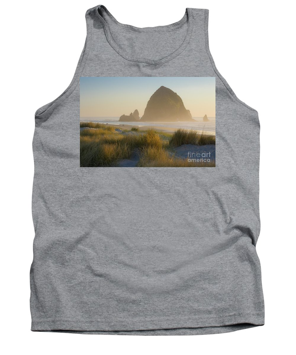 America Tank Top featuring the photograph Haystack Sunset by Brian Jannsen