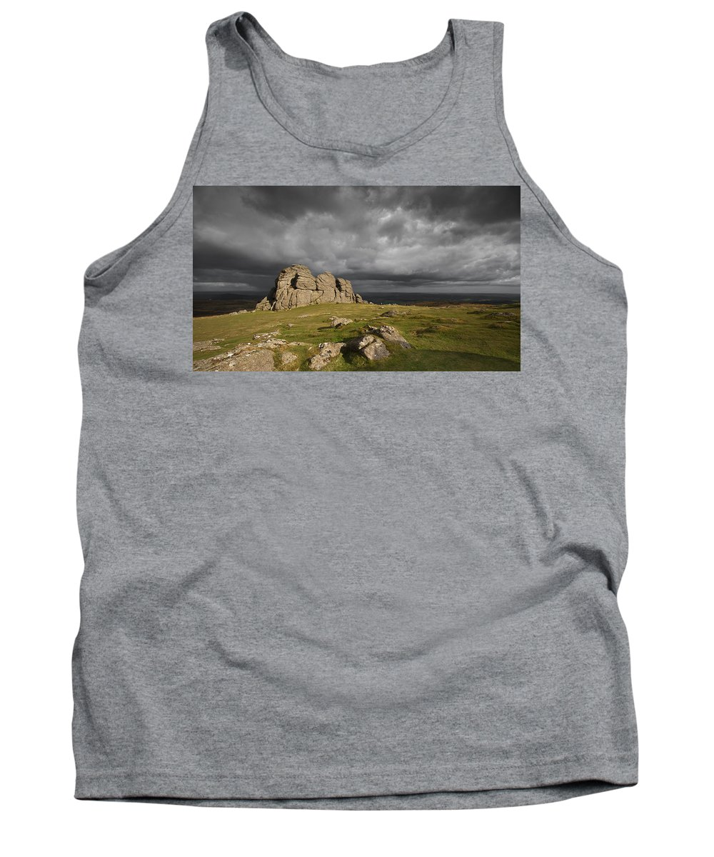 Haytor Tank Top featuring the photograph Haytor Storm by Nigel Forster