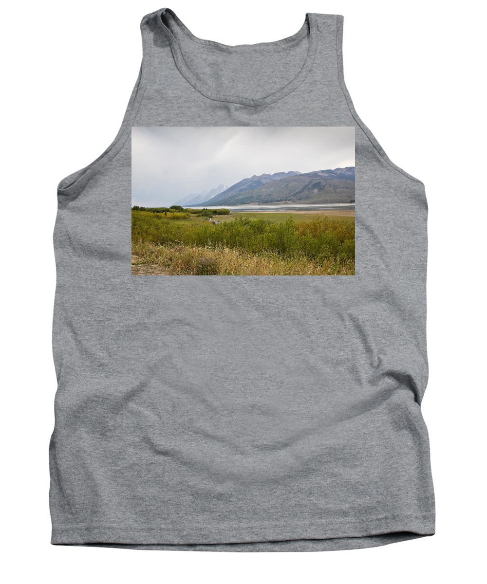 Haze Tank Top featuring the photograph Hazy Day - Grand Teton National Park - Wyoming by Diane Mintle