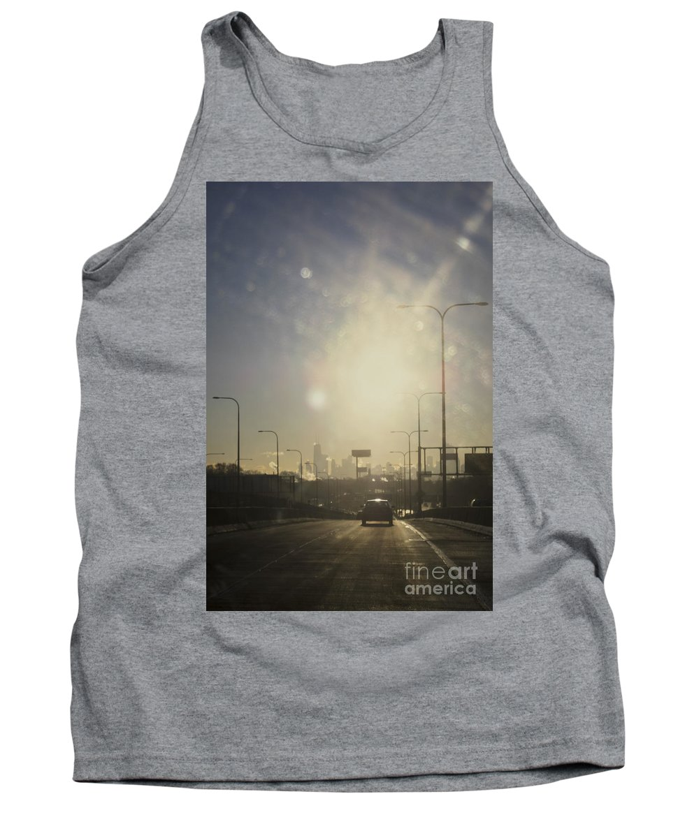City Tank Top featuring the photograph Heading South On The Kennedy by Margie Hurwich
