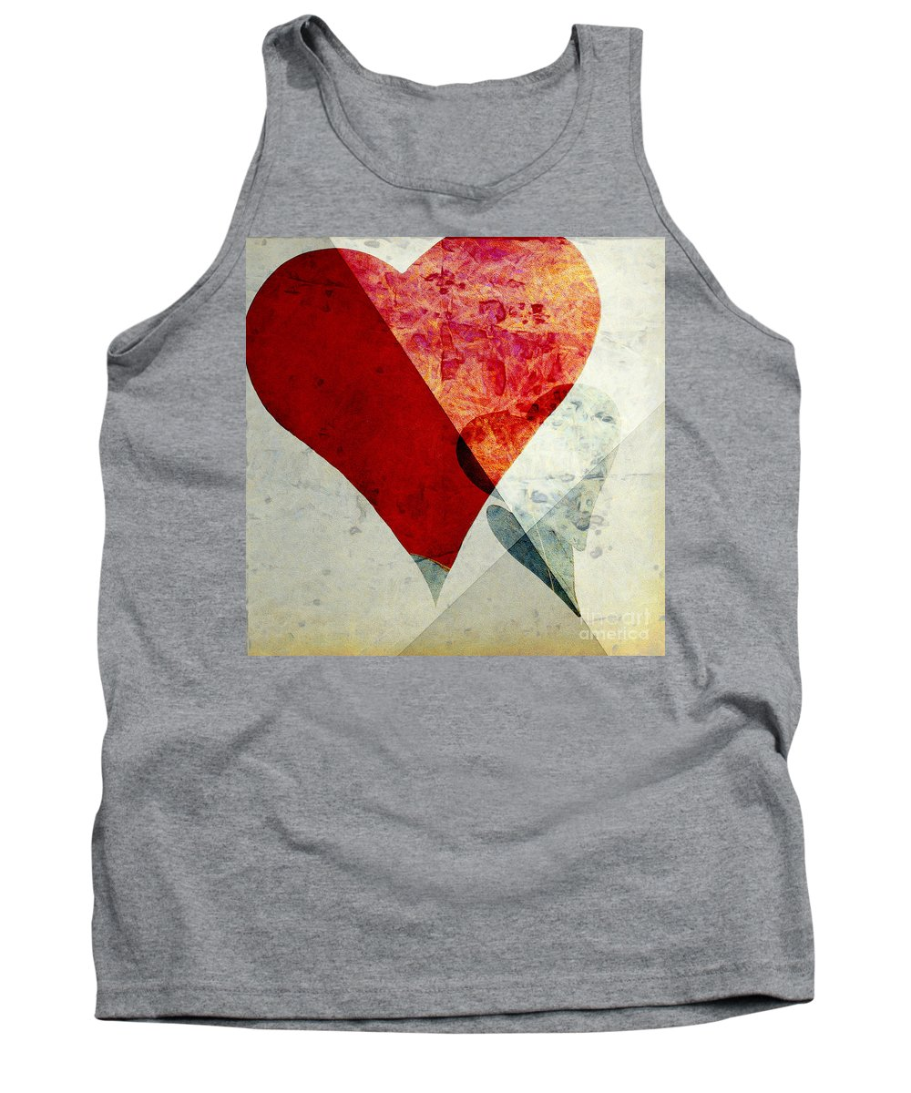 Abstract Tank Top featuring the photograph Hearts 6 Square by Edward Fielding