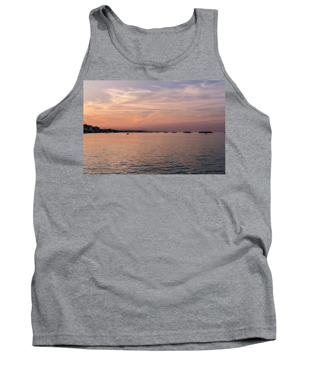 Sunset Over The Sea Tank Top featuring the photograph Sunset On The Beach - Heaven Tonight by Andrea Mazzocchetti