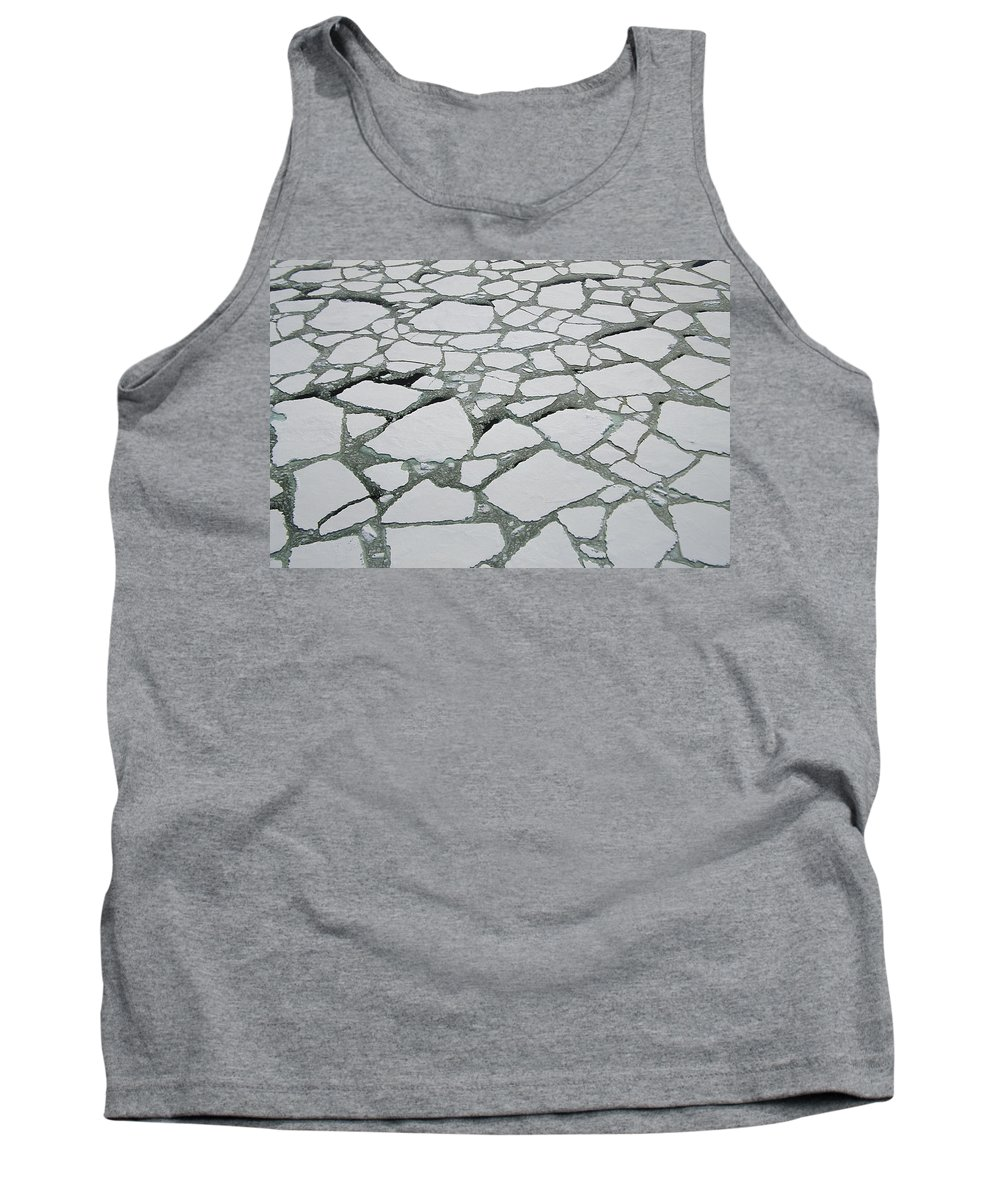 Feb0514 Tank Top featuring the photograph Heavy Pack Ice Terre Adelie Land by Colin Monteath
