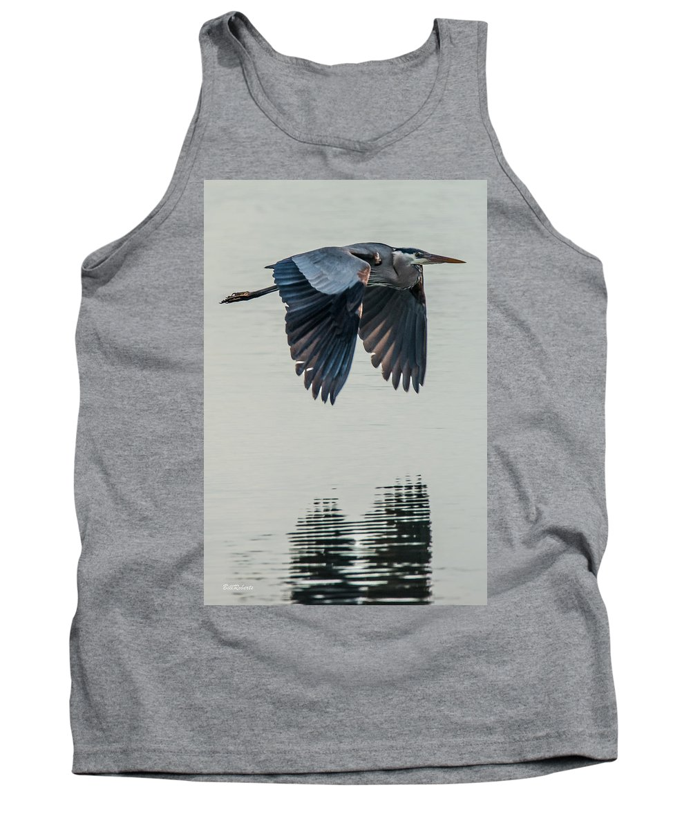 Moss Landing Tank Top featuring the photograph Heron On The Wing by Bill Roberts