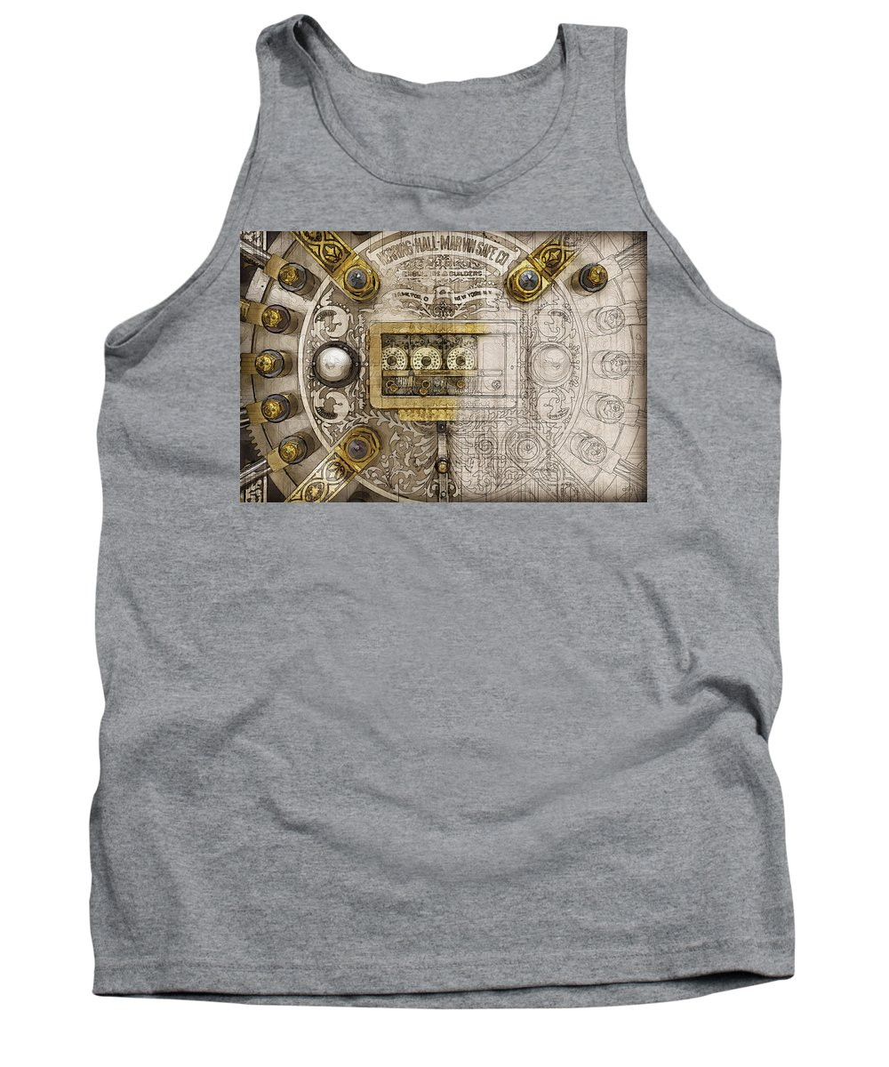 'bank Vaults & Locks' Collection By Serge Averbukh Tank Top featuring the digital art Herring Hall Marvin Co. Bank Vault Door Lock by Serge Averbukh