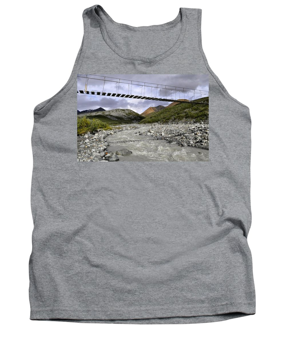 Bridge Tank Top featuring the photograph High In The Mountains by Cathy Mahnke