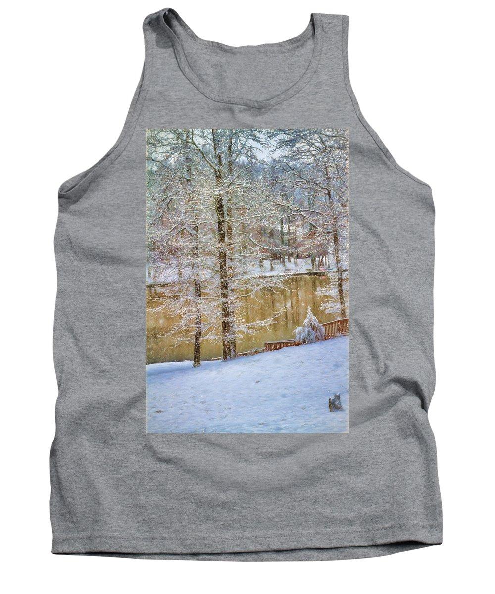 Snow Tank Top featuring the photograph Hillside Snow - Winter Landscape by Barry Jones