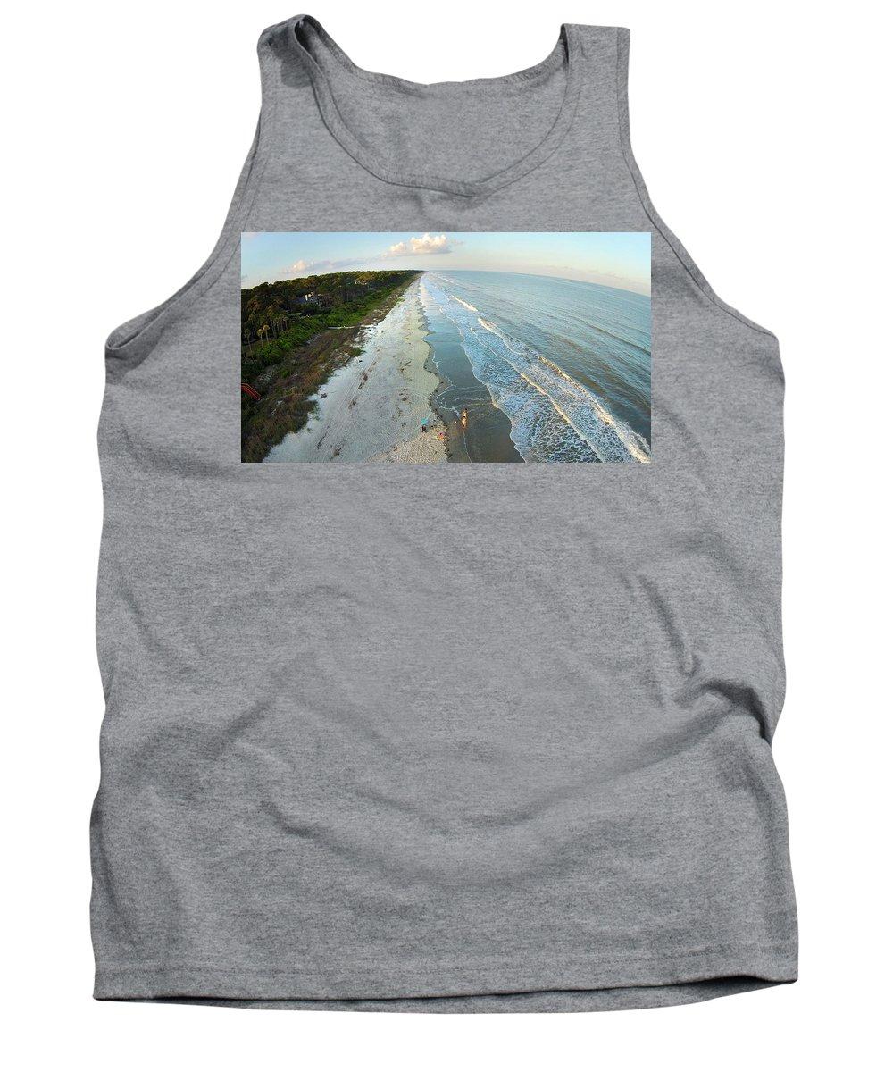 Hilton Head Tank Top featuring the photograph Hilton Head Island Beach by Duane McCullough