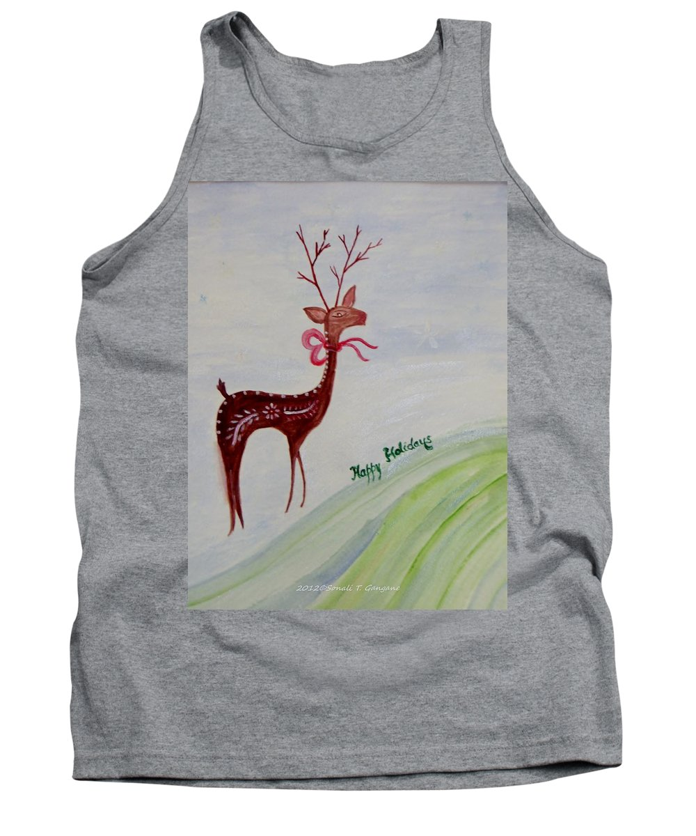 Holiday Cards Tank Top featuring the painting Holiday Greetings by Sonali Gangane