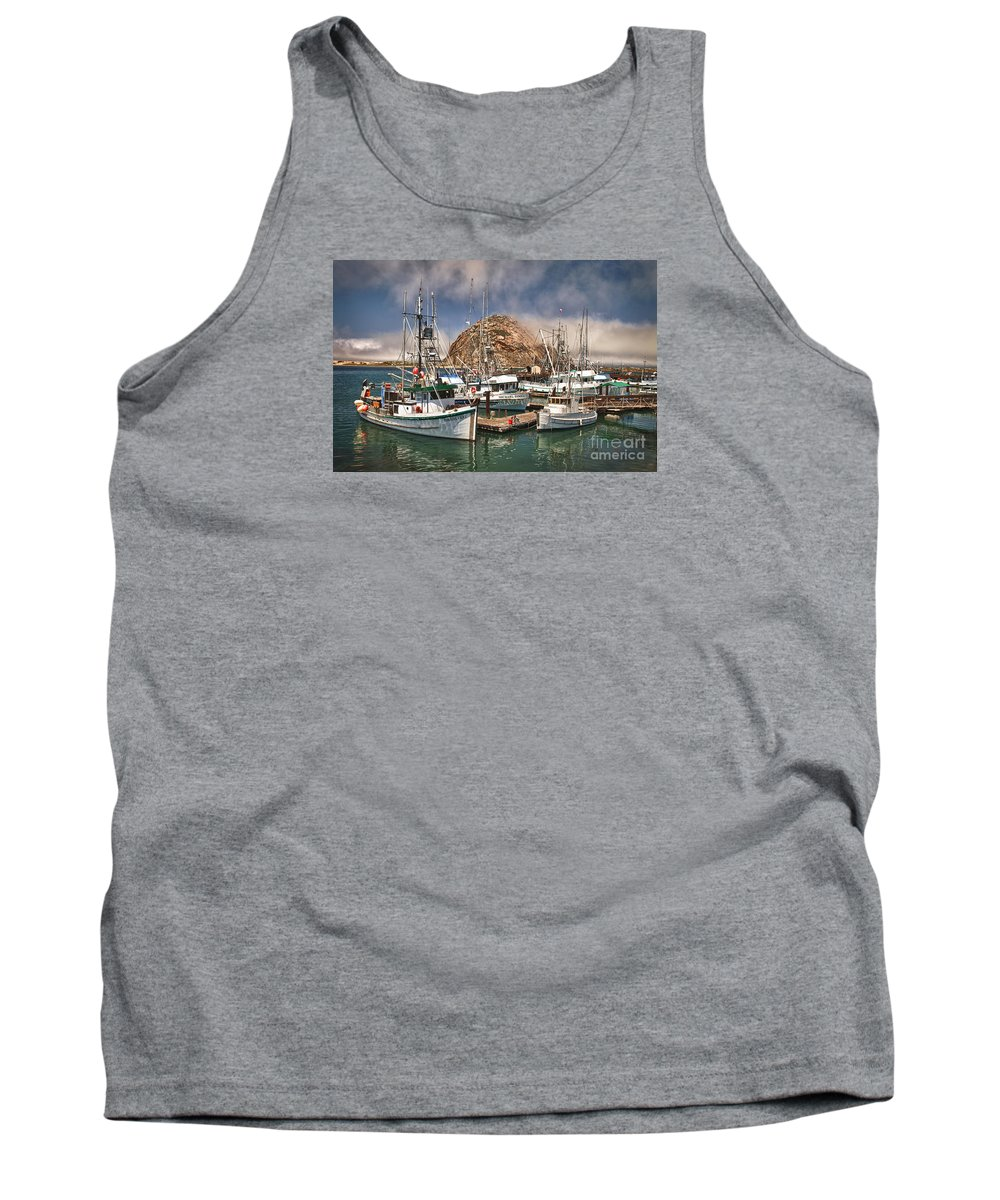Morro Bay Tank Top featuring the photograph Home Port by Alice Cahill