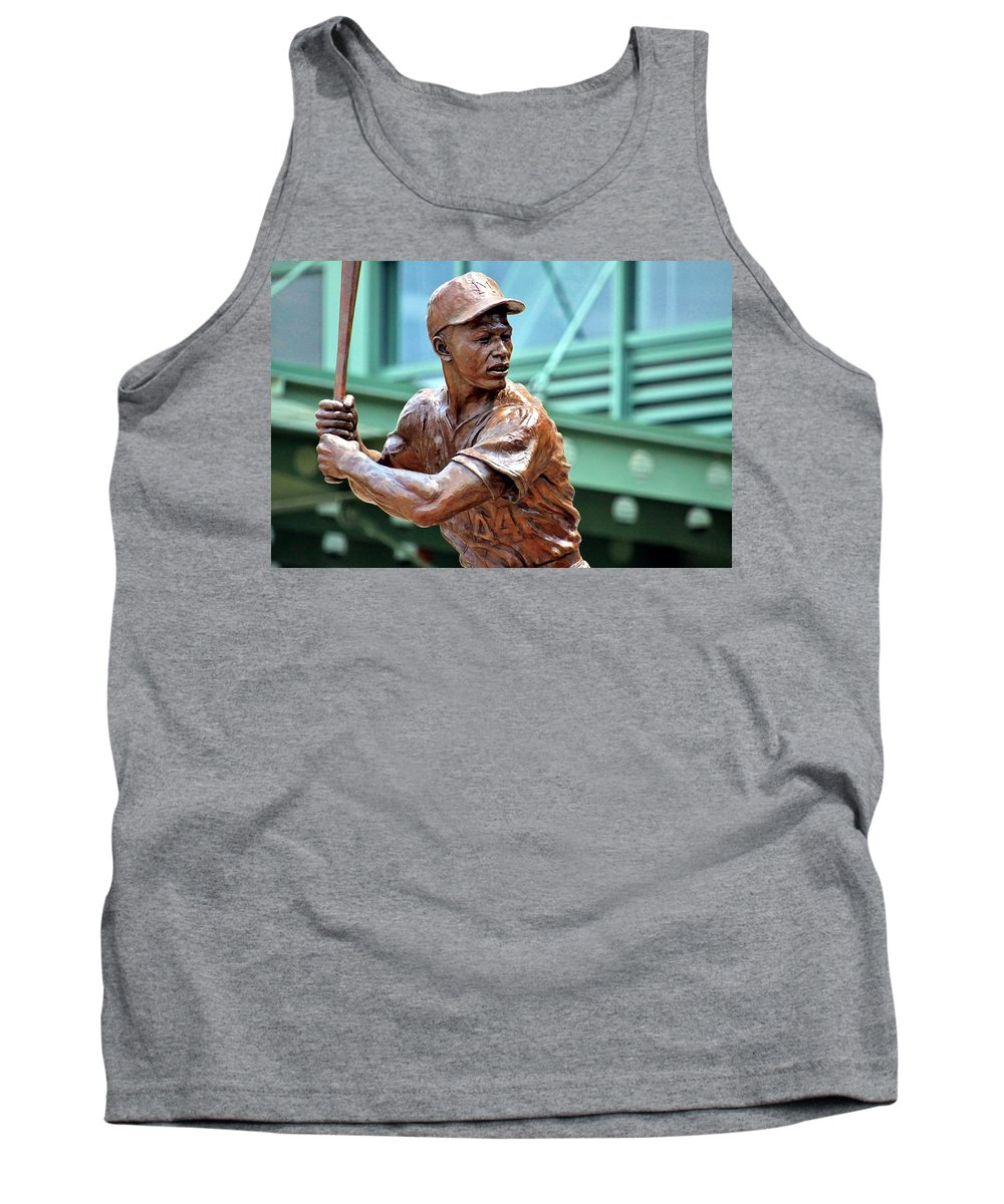 Hank Aaron Tank Top featuring the photograph Home Run King by Christopher Miles Carter