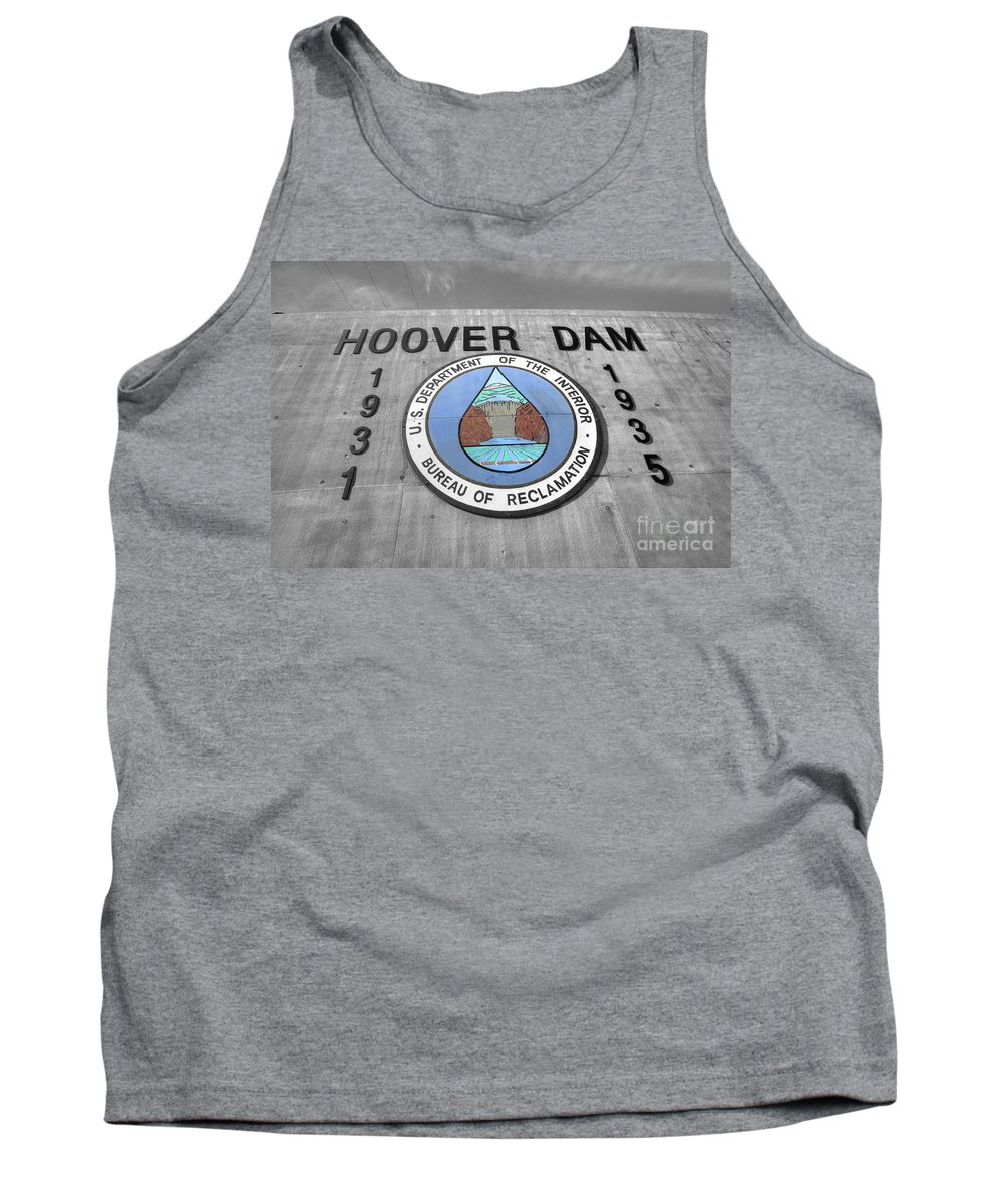 Hoover Tank Top featuring the photograph Hoover Logo by Rob Hawkins