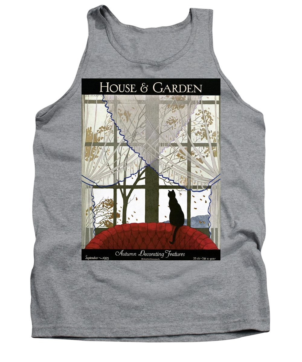 Illustration Tank Top featuring the photograph House And Garden Cover by Andre E. Marty
