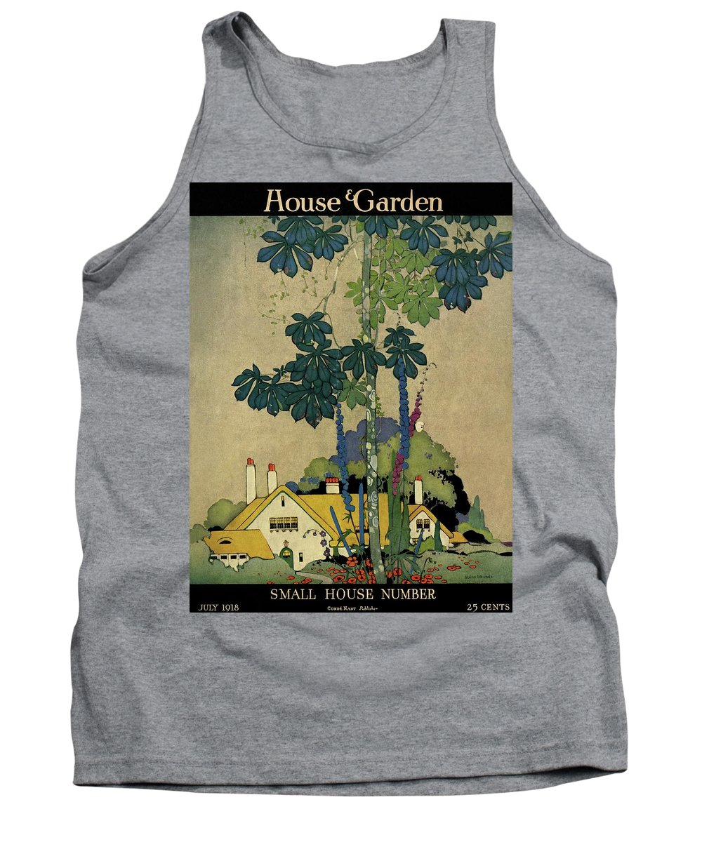 House And Garden Tank Top featuring the photograph House And Garden Cover by H. George Brandt