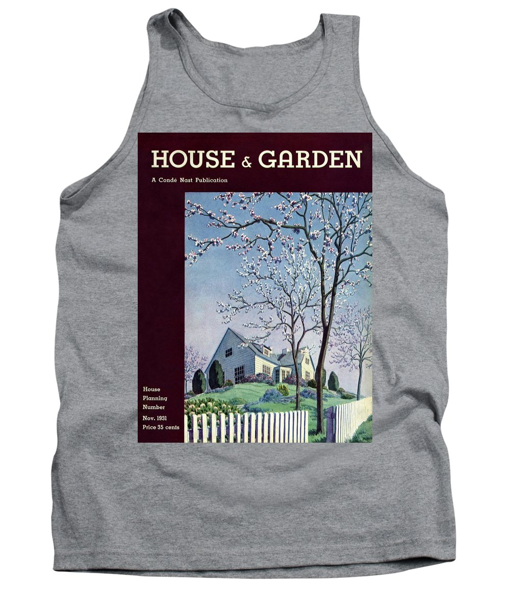 House And Garden Tank Top featuring the photograph House And Garden House Planning Number Cover by Pierre Brissaud
