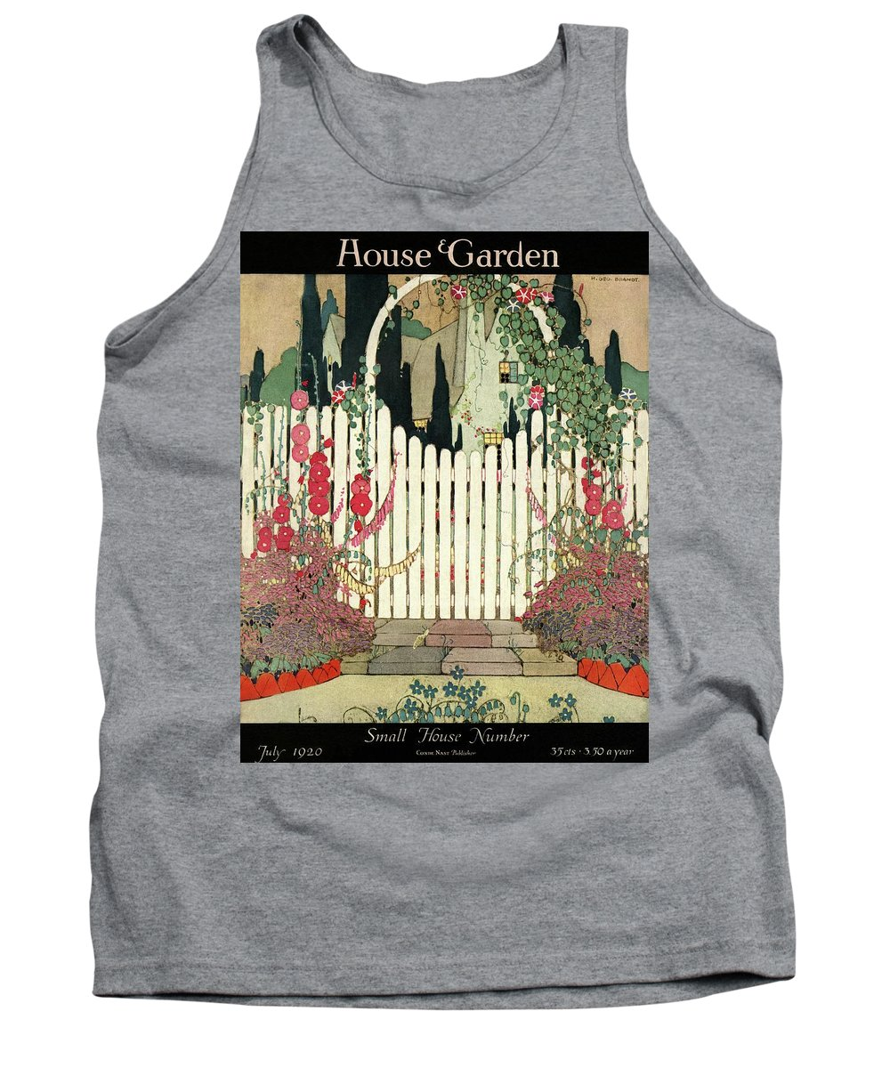 House And Garden Tank Top featuring the photograph House And Garden Small House Number by H. George Brandt