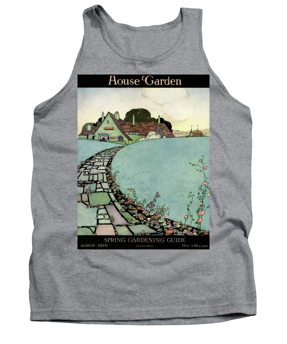 House And Garden Tank Top featuring the photograph House And Garden Spring Garden Guide by Harry Richardson