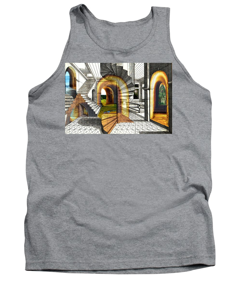 House Tank Top featuring the digital art House Of Dreams by Lisa Yount